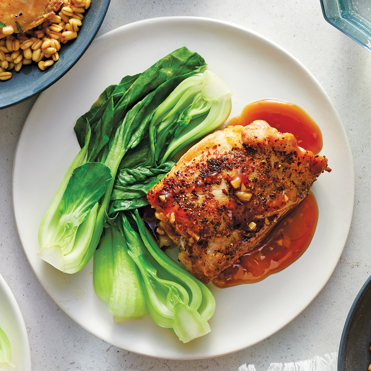 Use your multicooker to make a quick version of this Filipino dish that's traditionally marinated overnight. The sweet and spicy Instant Pot chicken is tender and juicy, while the bok choy keeps its flavor and crisp texture. Source: 400 Calorie Recipes