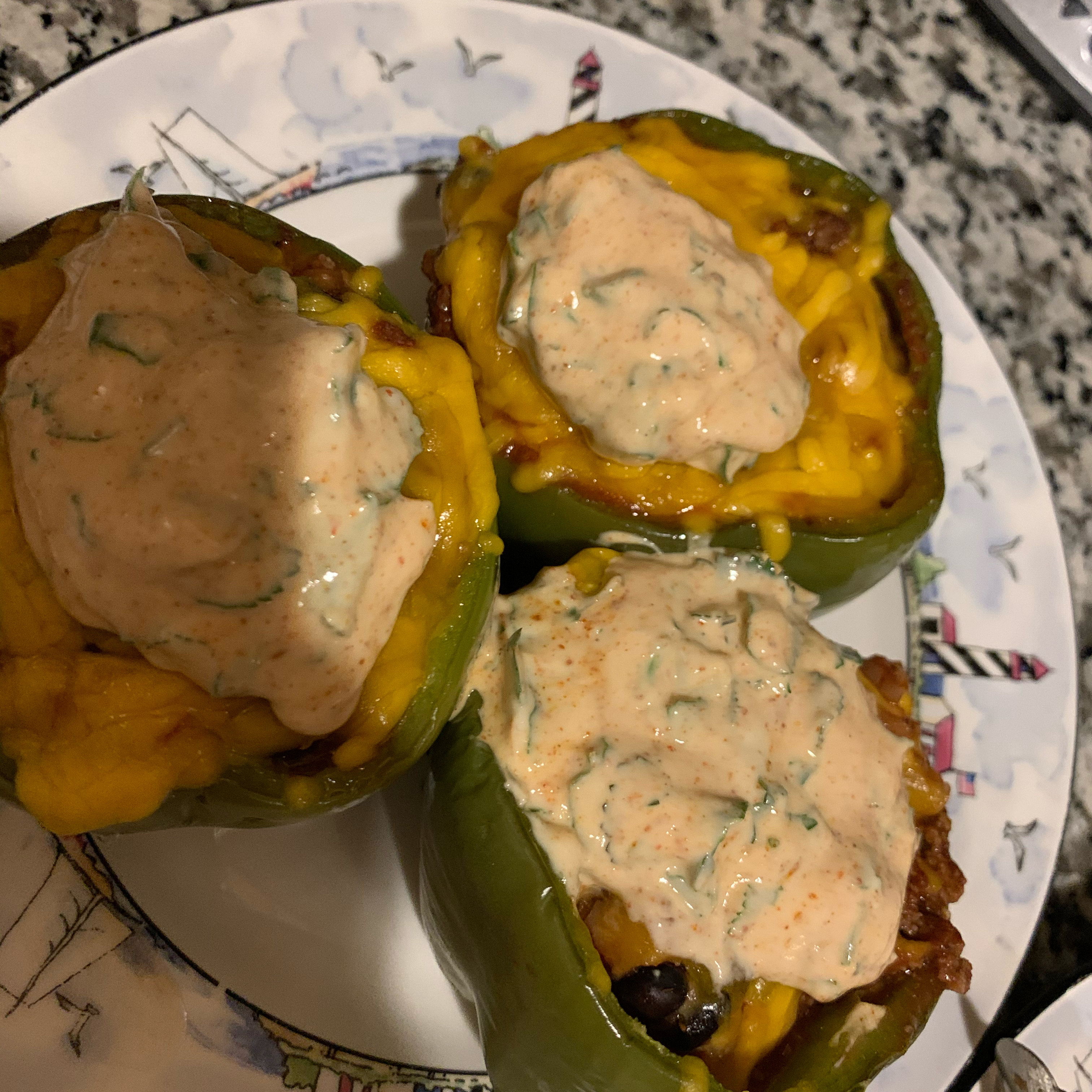 Southwestern Stuffed Bell Peppers (Low Carb) Lisa
