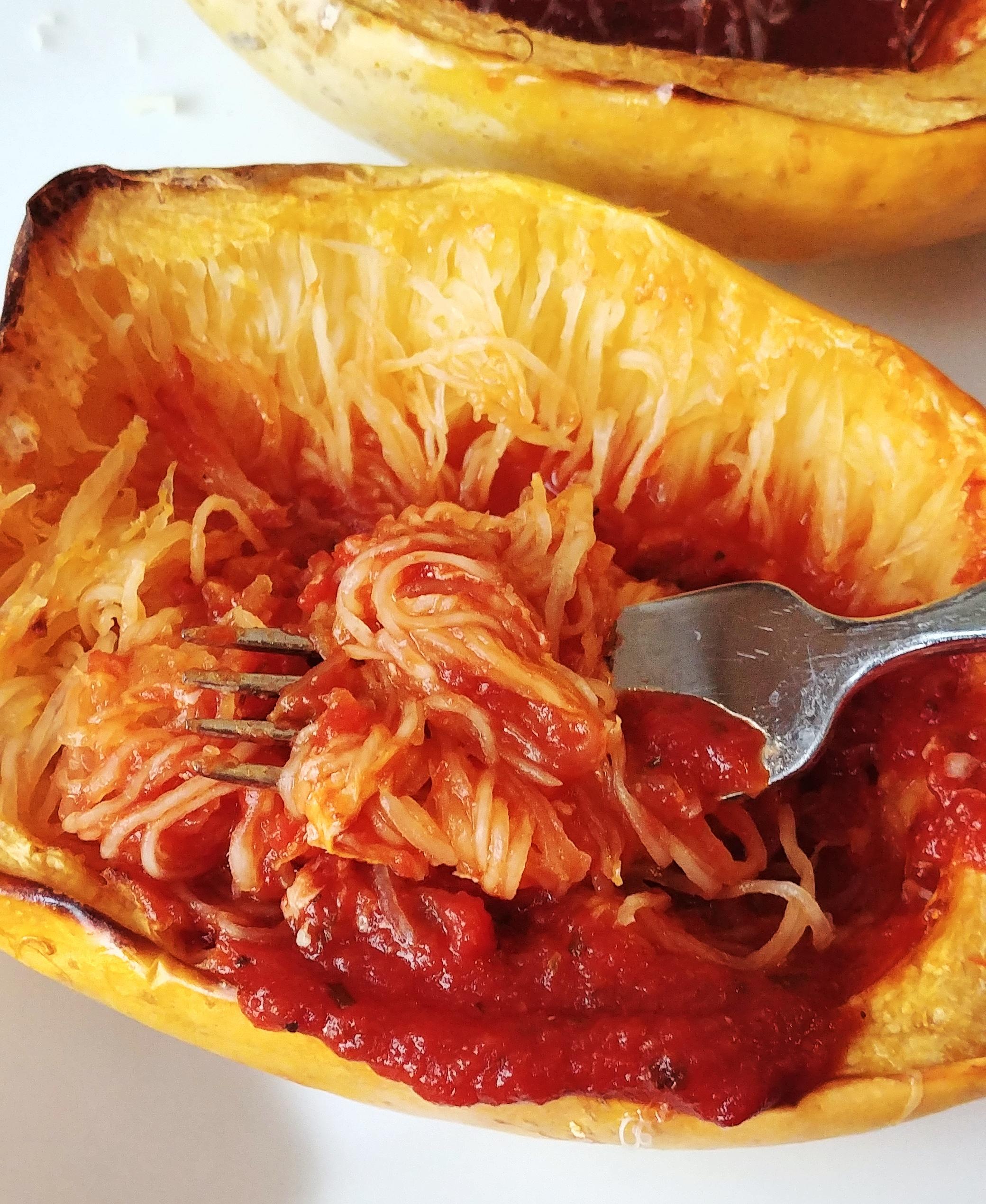 No-Fuss Baked Spaghetti Squash Chef Mo