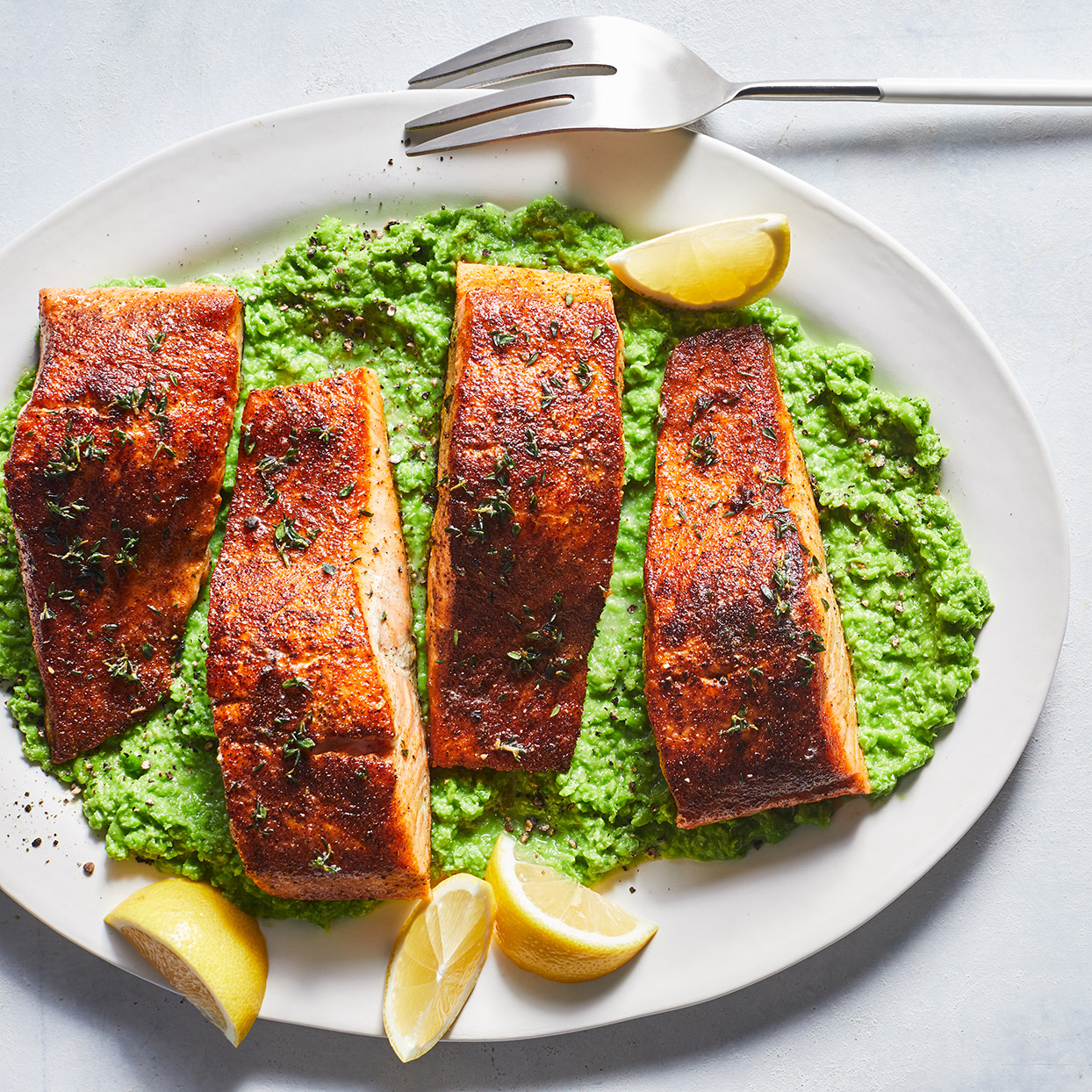 Cooking butter until it browns adds a toasty, nutty flavor to this easy skillet salmon recipe. Here it gives Old Bay-rubbed salmon a chef-worthy finish--not bad for 20 minutes! Source: EatingWell Magazine, March 2020