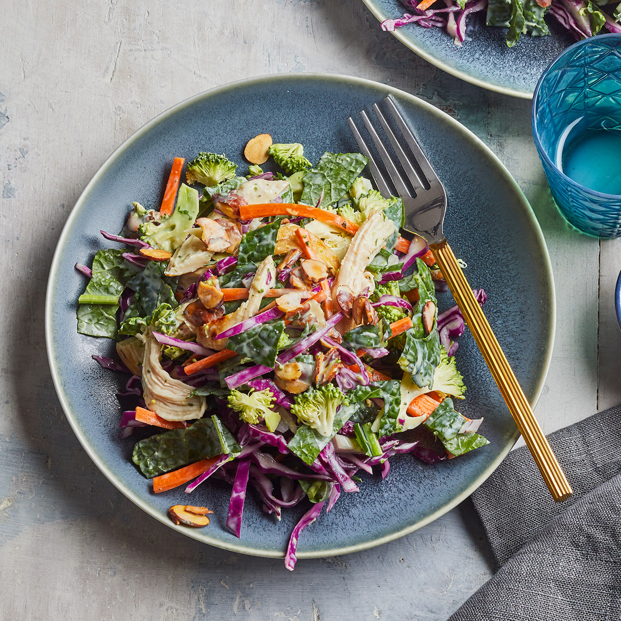 This herb-loaded green goddess-inspired dressing gets a color boost from creamy avocado. Make a double batch of this healthy salad dressing to keep on hand for salads throughout the week. Source: EatingWell Magazine, March 2020