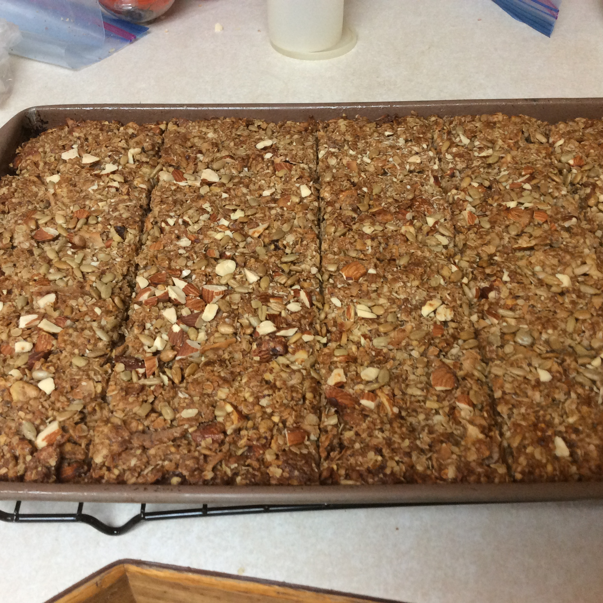 Toasted Coconut Granola Bars