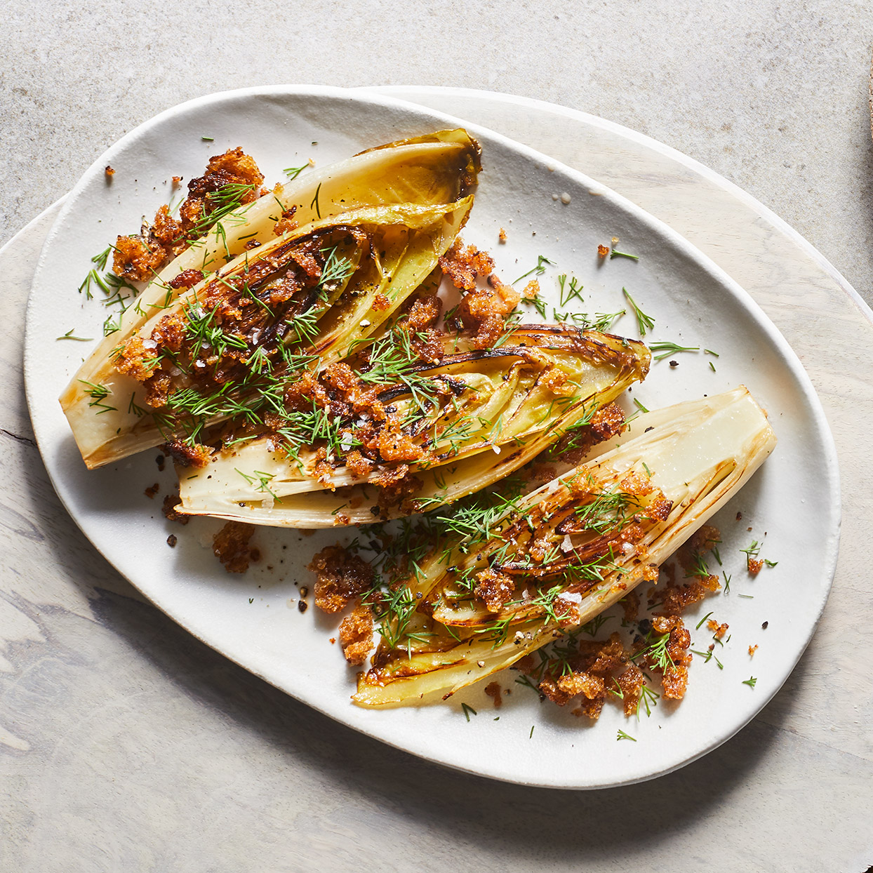 Sweet port softens the bitter edge of this endive appetizer that is sure to please.