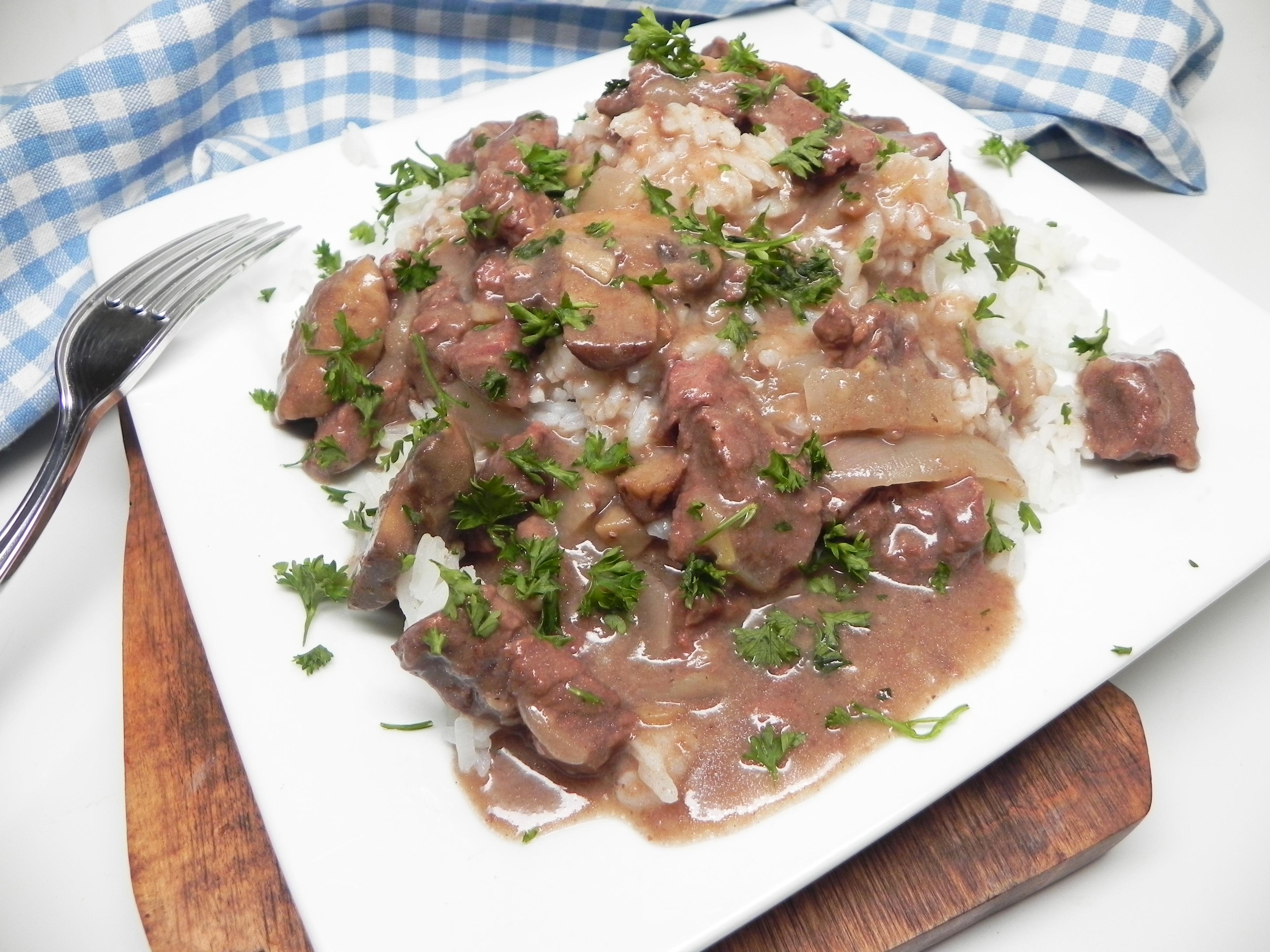 Instant Pot® Beef Tips with Mushroom Gravy
