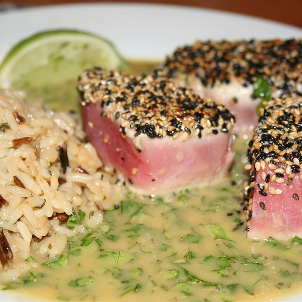 Seared Tuna with Wasabi-Butter Sauce partyofsixseattle