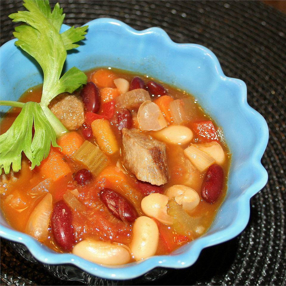 Bean and Sausage Soup Jennifer Baker