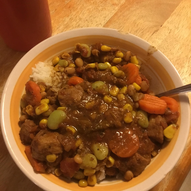 Tender Pork Stew with Beans TBCurliss