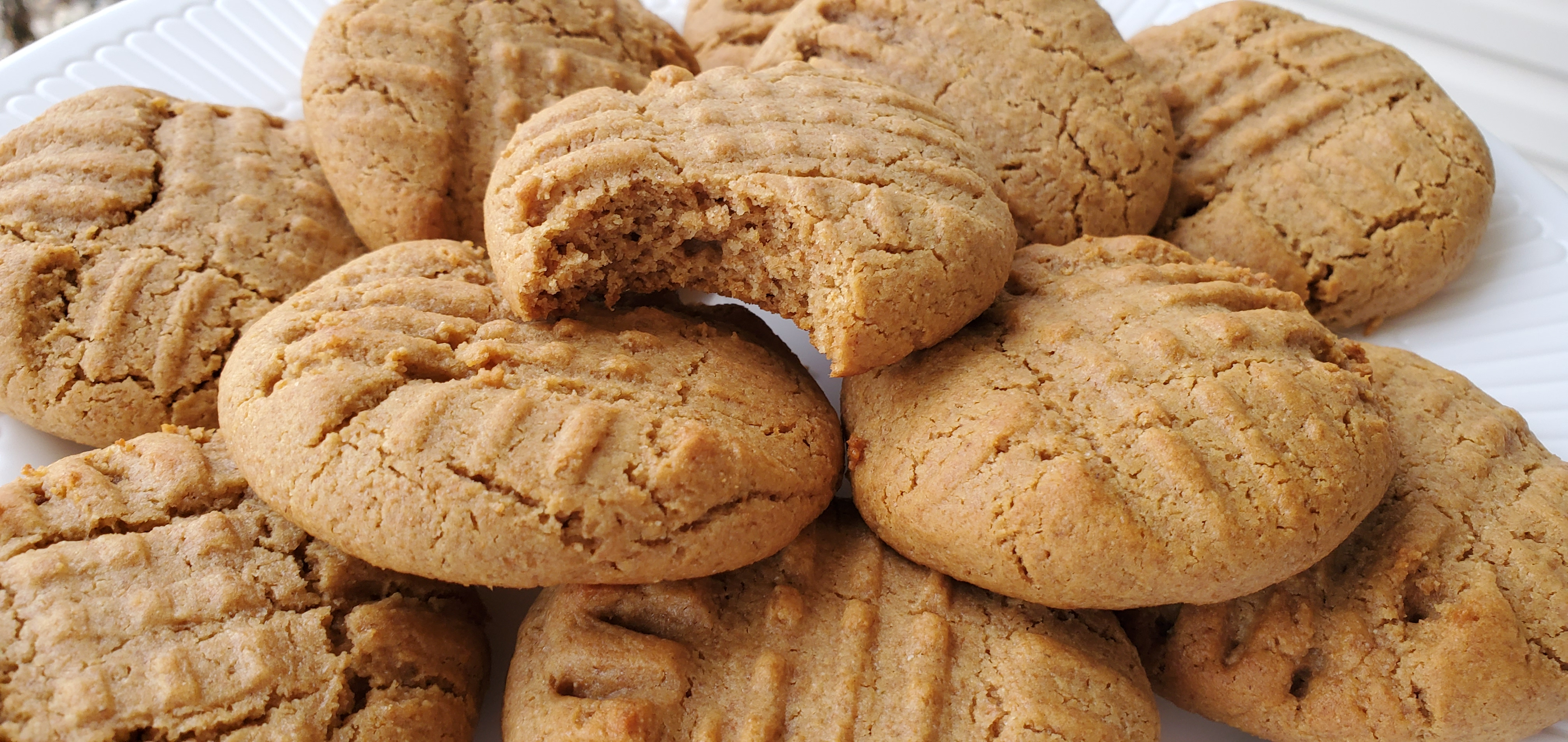 Honey Whole Wheat Peanut Butter Cookies