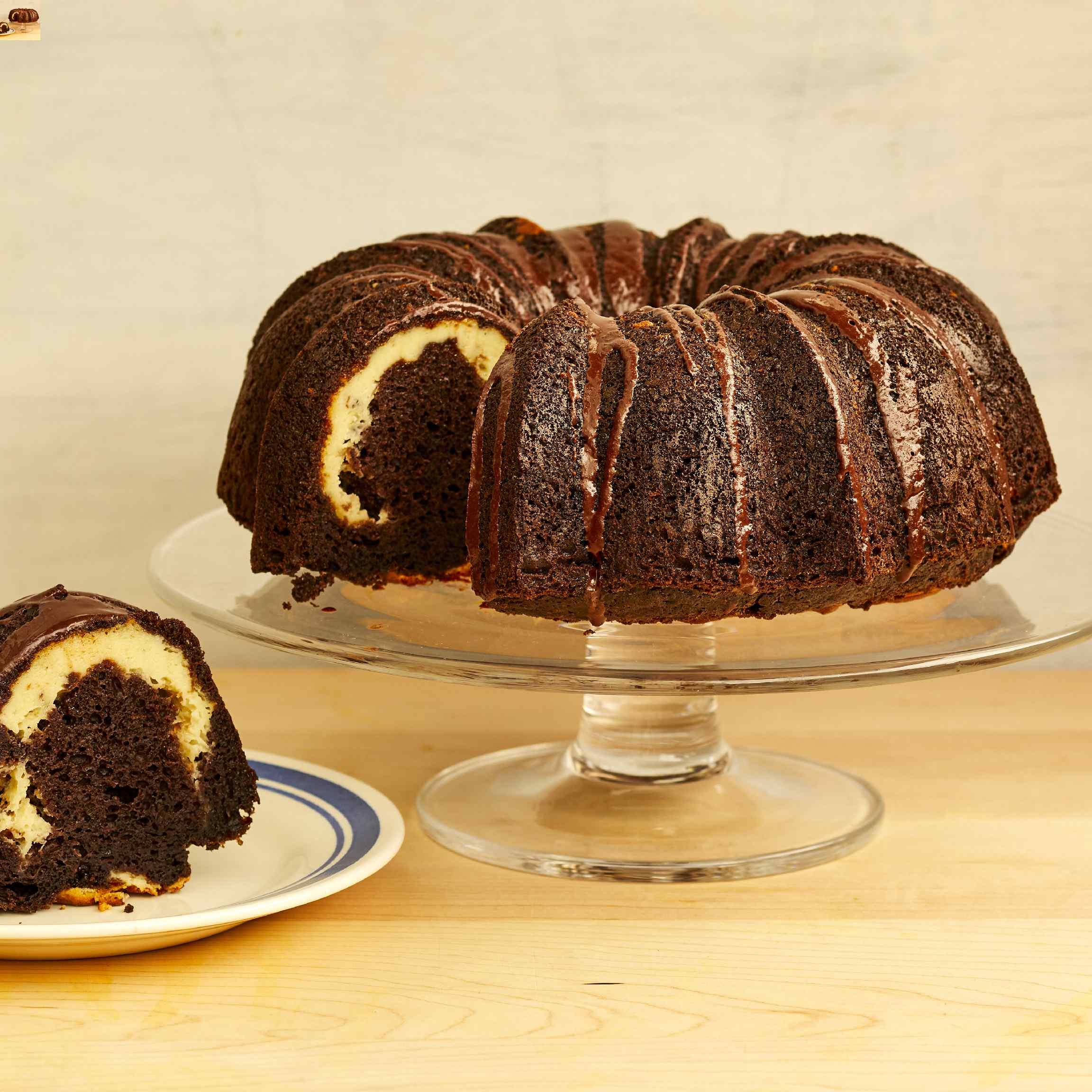 Ribboned Fudge Cake JJ
