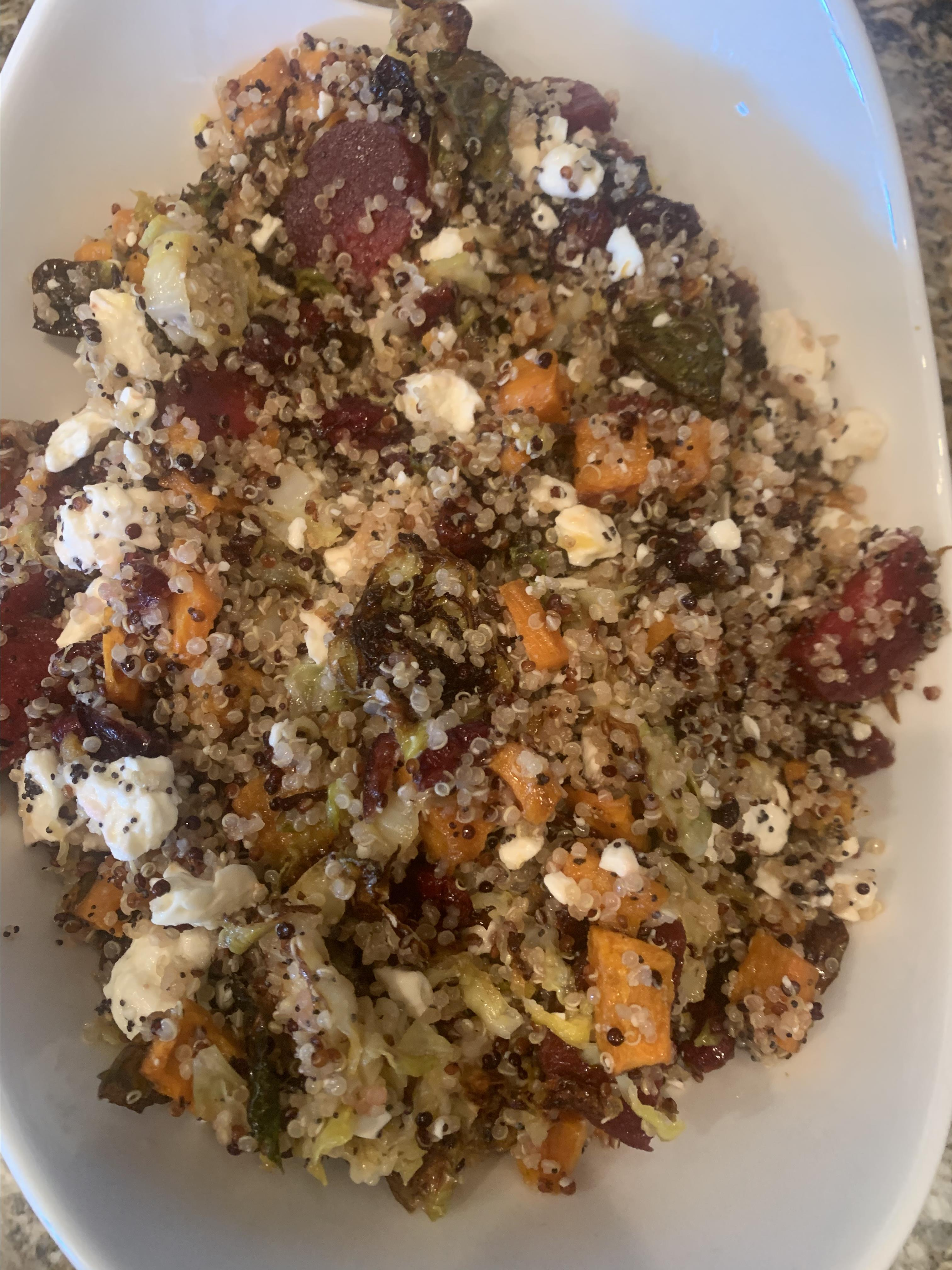 Fall Quinoa Salad with Poppy Seed Dressing classyncasual