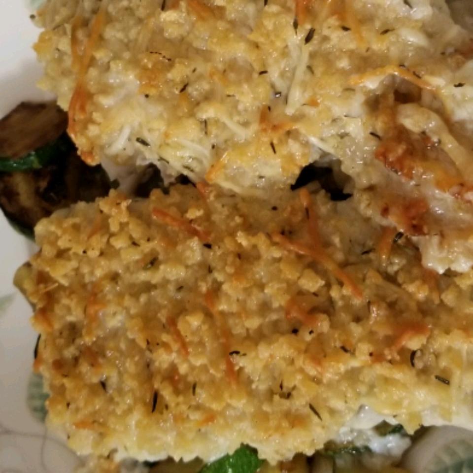 Crunchy Pecorino Baked Cod Rebecca Spence
