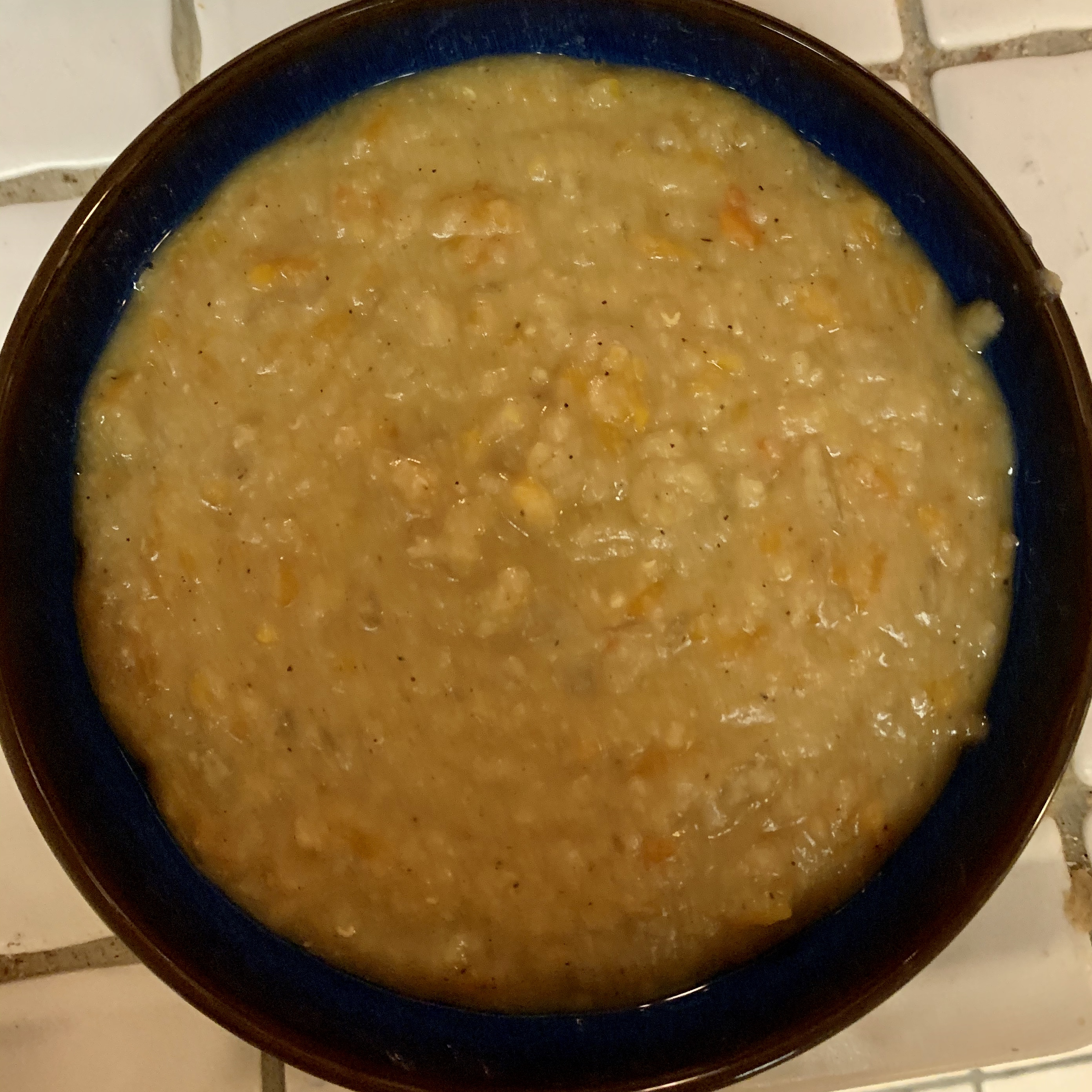 Red Lentil and Yellow Split Pea Soup Made with a Pressure Cooker