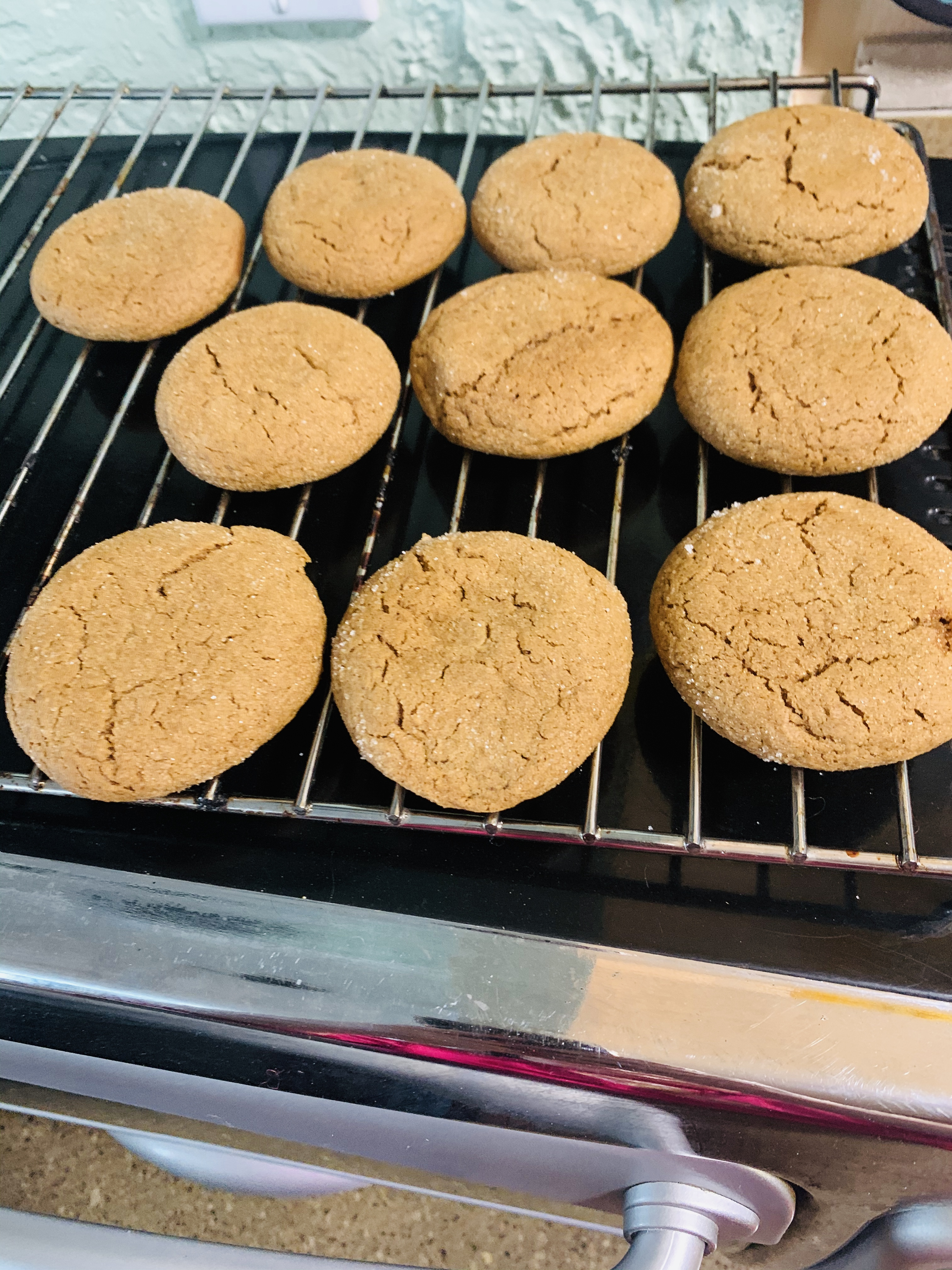 Big Soft Ginger Cookies