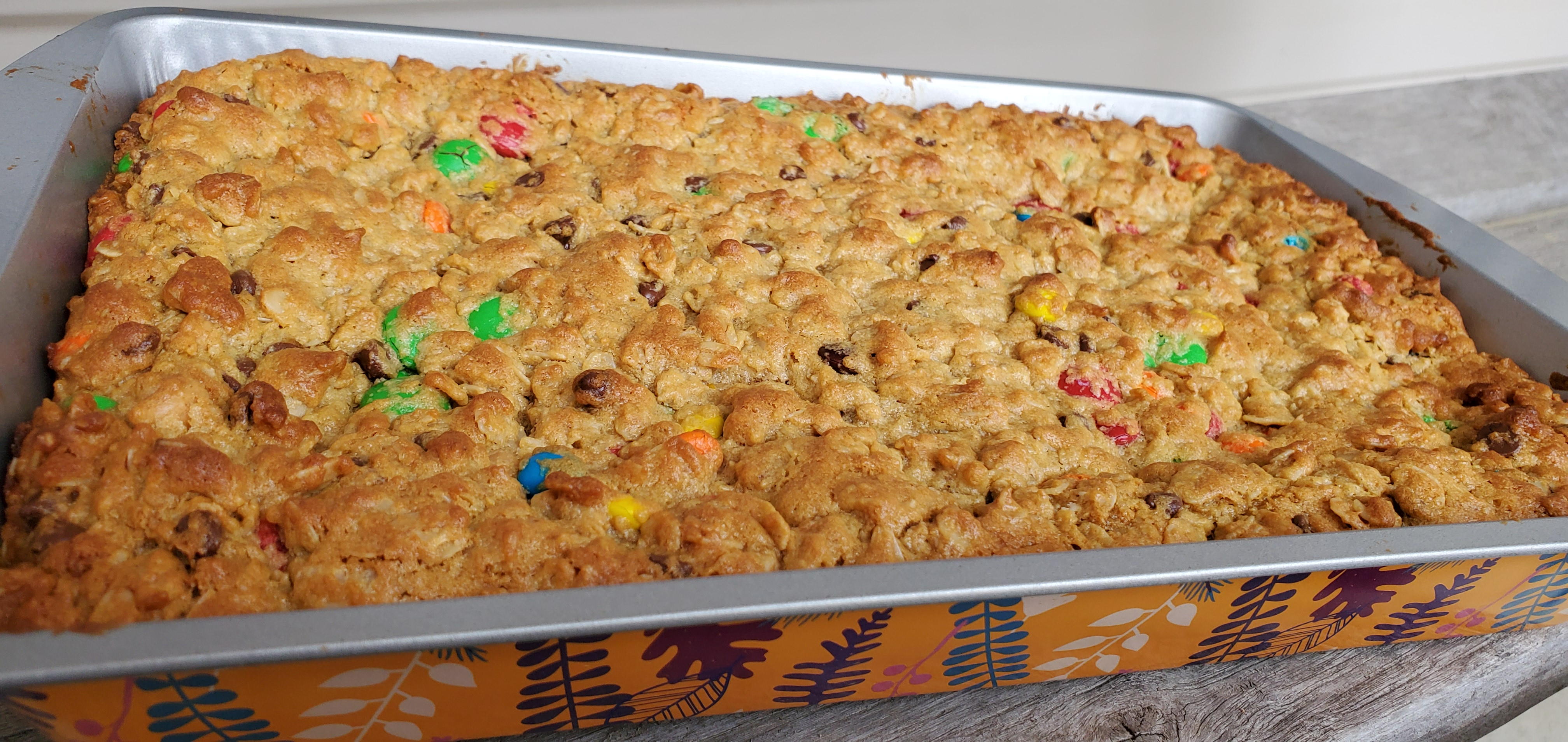 Peanut Butter and Chocolate Monster Cookie Bars Tammy Lynn