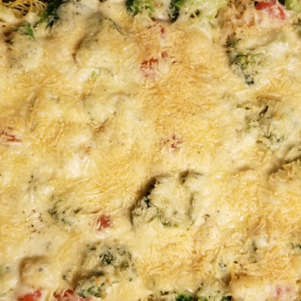 Shrimp Alfredo Broccoli Bake
