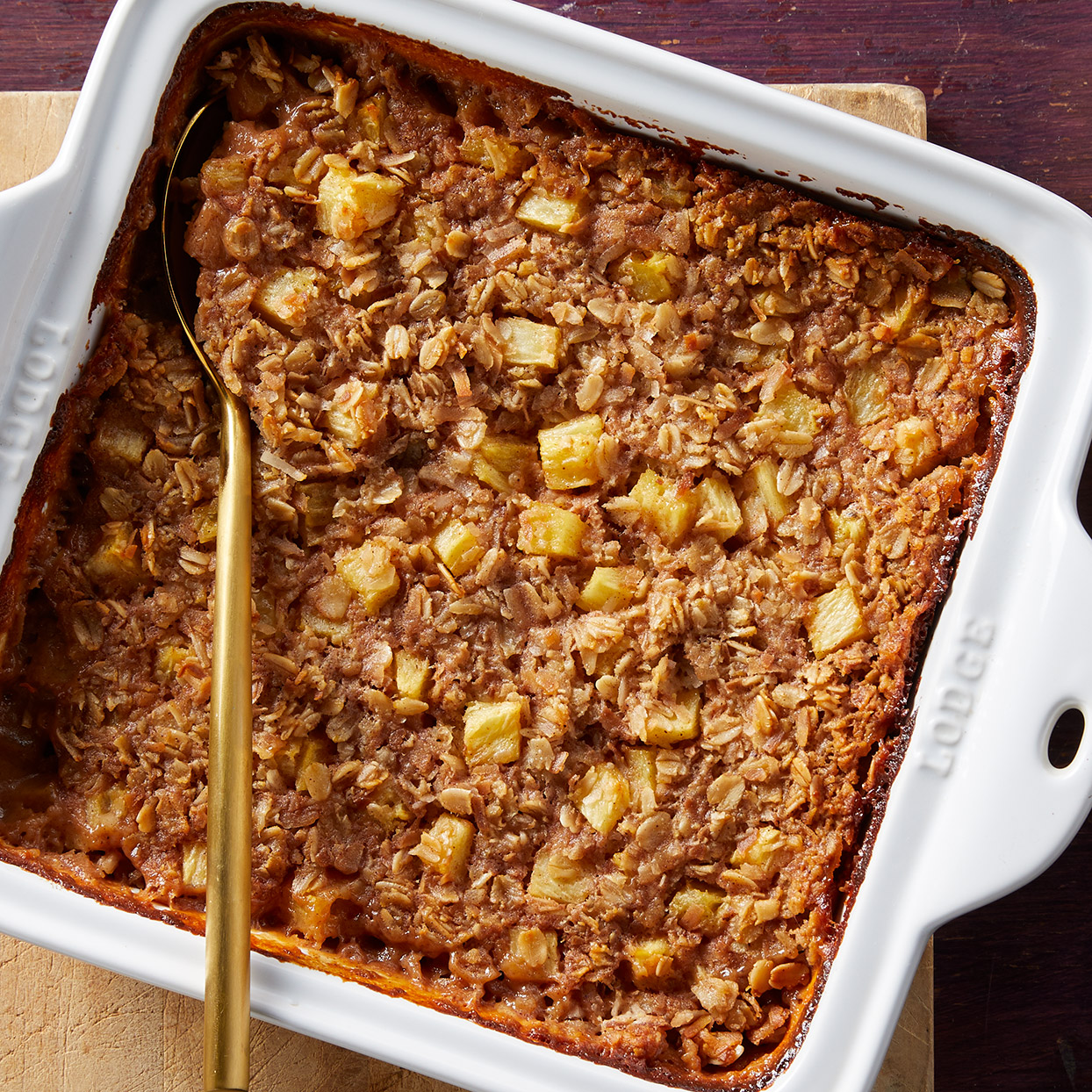 This dreamy vegan baked oatmeal is full of tropical flavors from coconut and pineapple, and it couldn't be easier to make. It's a satisfying family breakfast but also feels special enough for a Sunday brunch with company. Source: EatingWell.com, February 2020