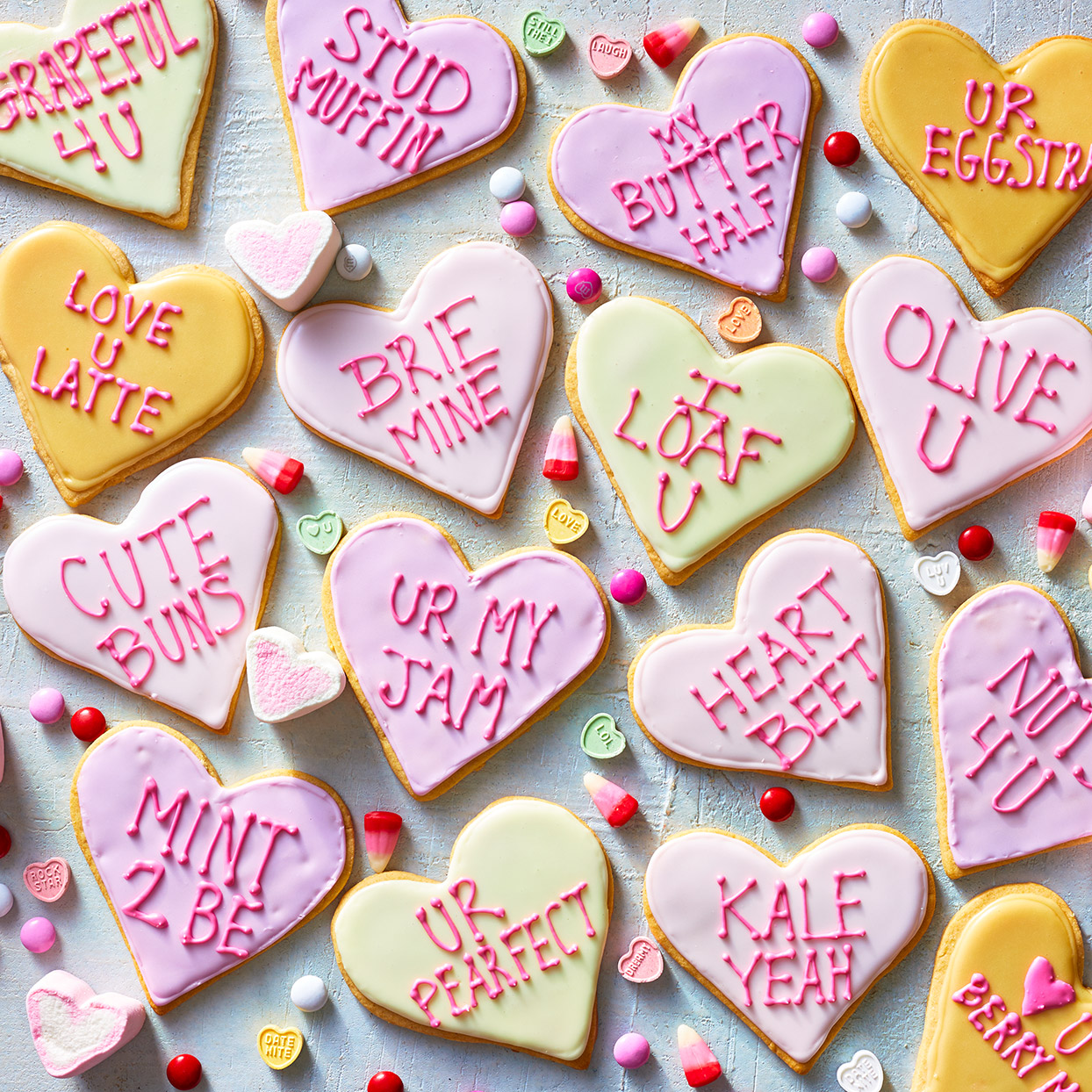 Celebrate Valentine's Day with these heart-shaped sugar cookies! This recipe uses whole-wheat pastry flour, cream cheese and lemon extract to make a healthier (and delicious!) cookie perfect for decorating. Bring them to school or work to get the conversation started. Source: EatingWell.com, February 2020