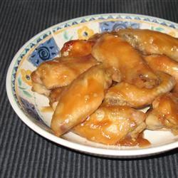 Krista's Sticky Honey Garlic Wings woesten