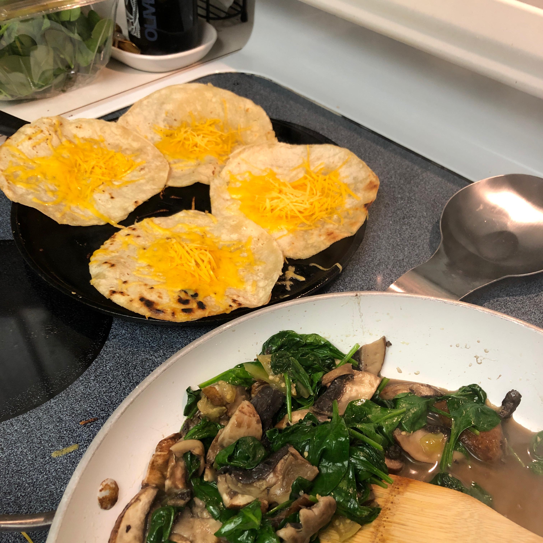Spinach and Mushroom Quesadillas Mrs McManamon