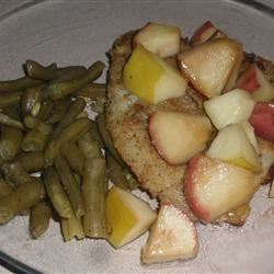 Sea Bass with Honeyed Apples Val