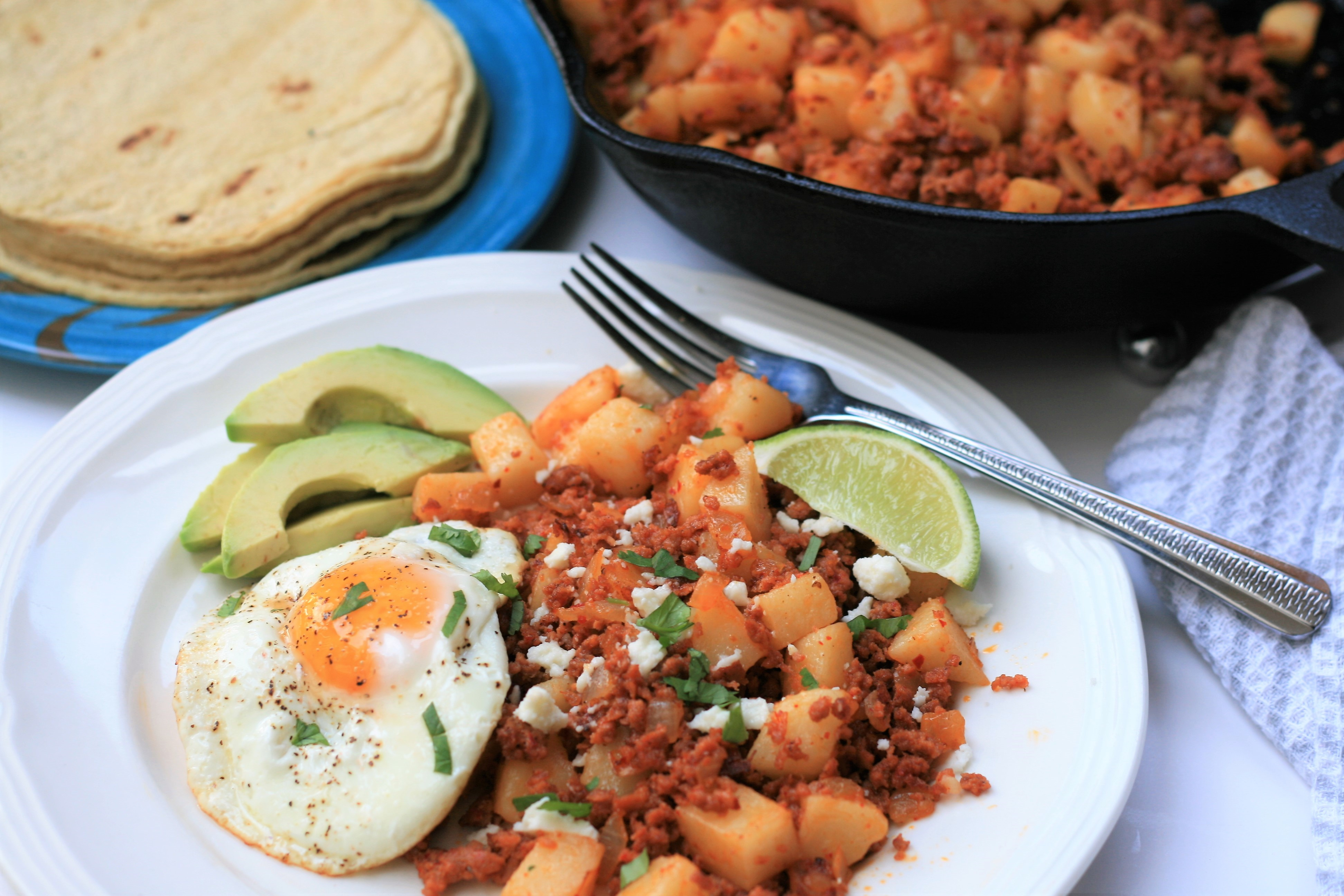 """The bold, delicious flavors of this traditional Mexican dish are sure to become your new favorite breakfast,"" says France C. ""Top with a fried or poached egg, or serve inside corn tortillas. I like to top mine with Cotija cheese, cilantro, and hot sauce, with a side of avocado."""