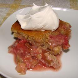 Strawberry Orange Rhubarb Cake Cathy H.