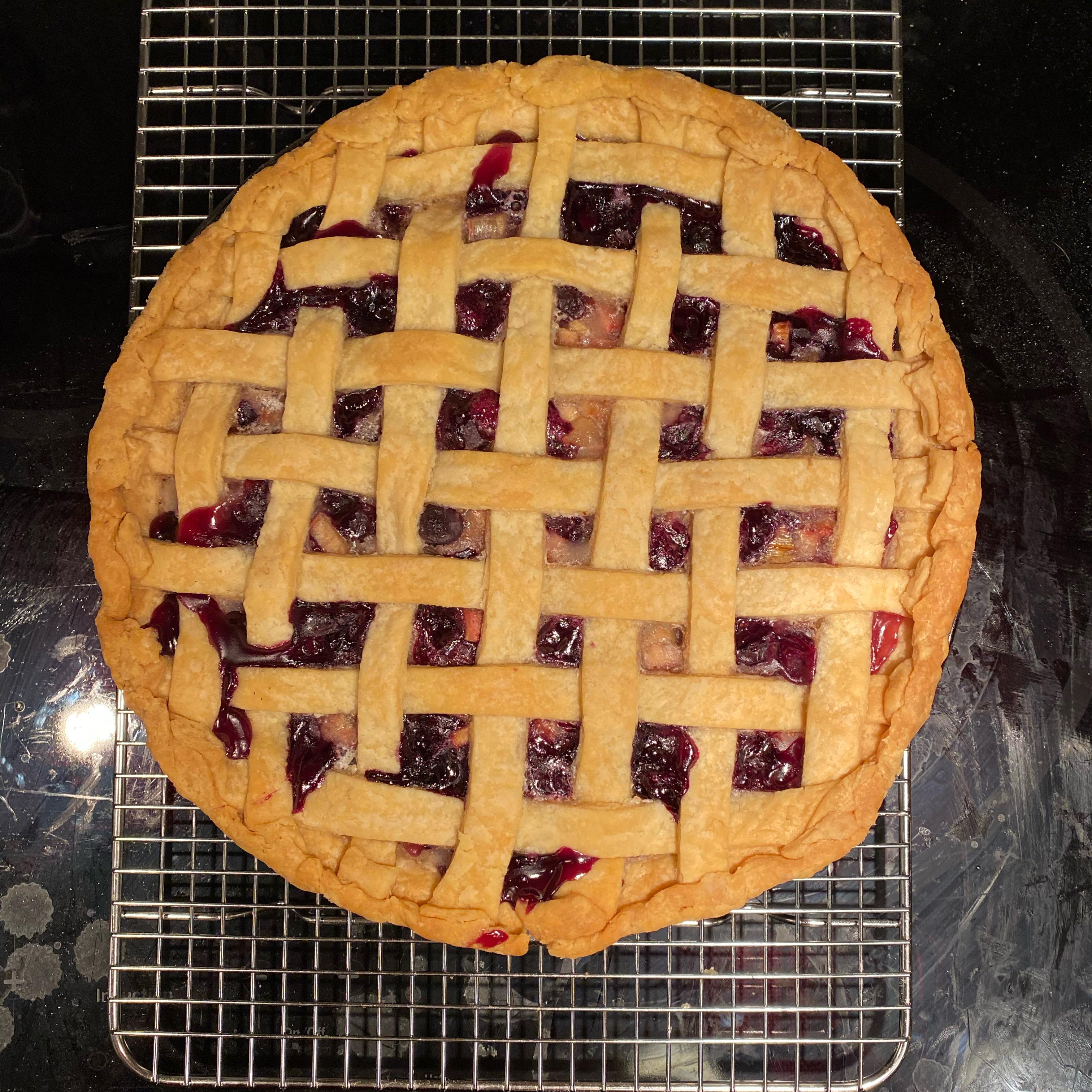Bluebarb Pie plasticfruit