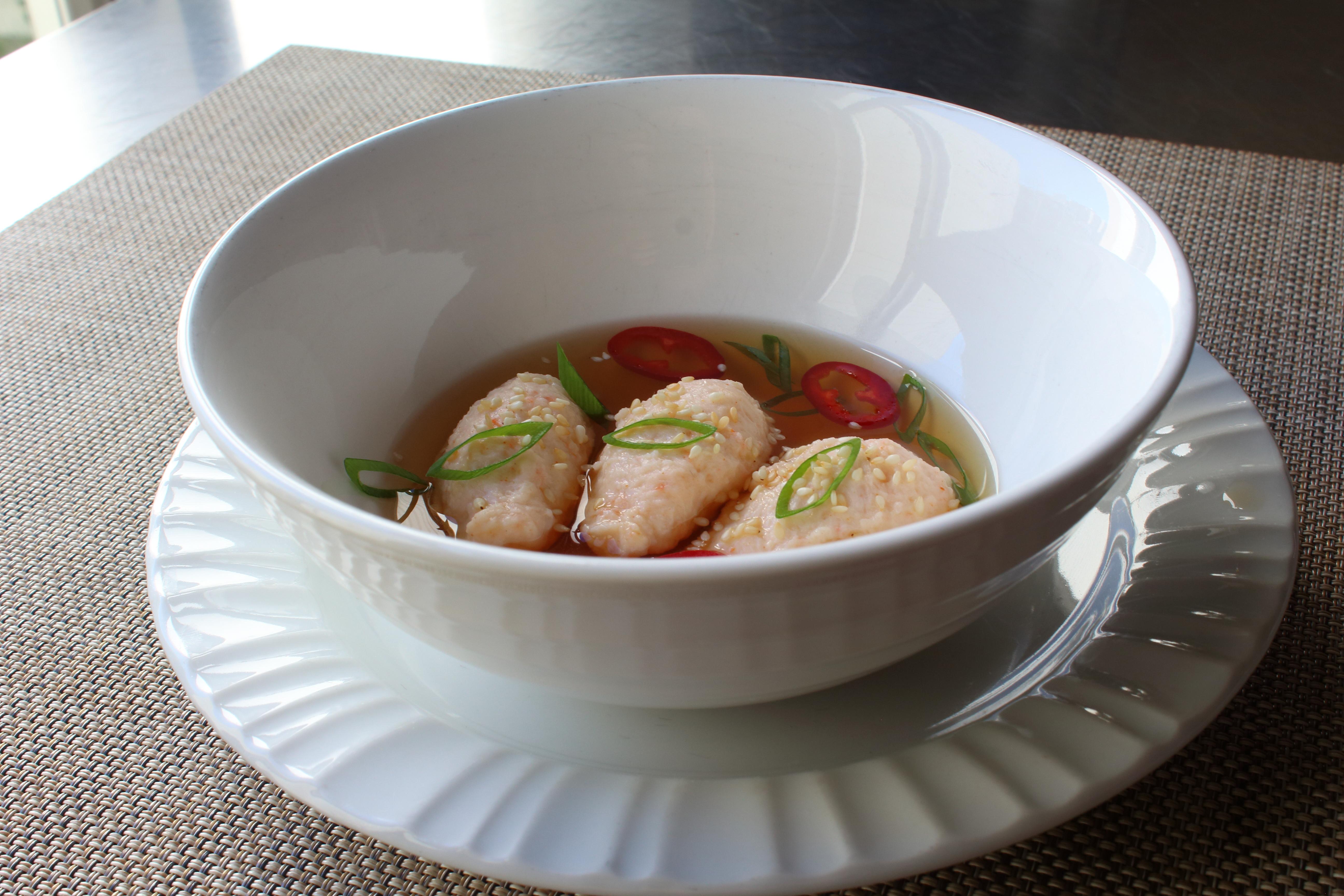 Naked Shrimp Dumplings in Dashi Chef John