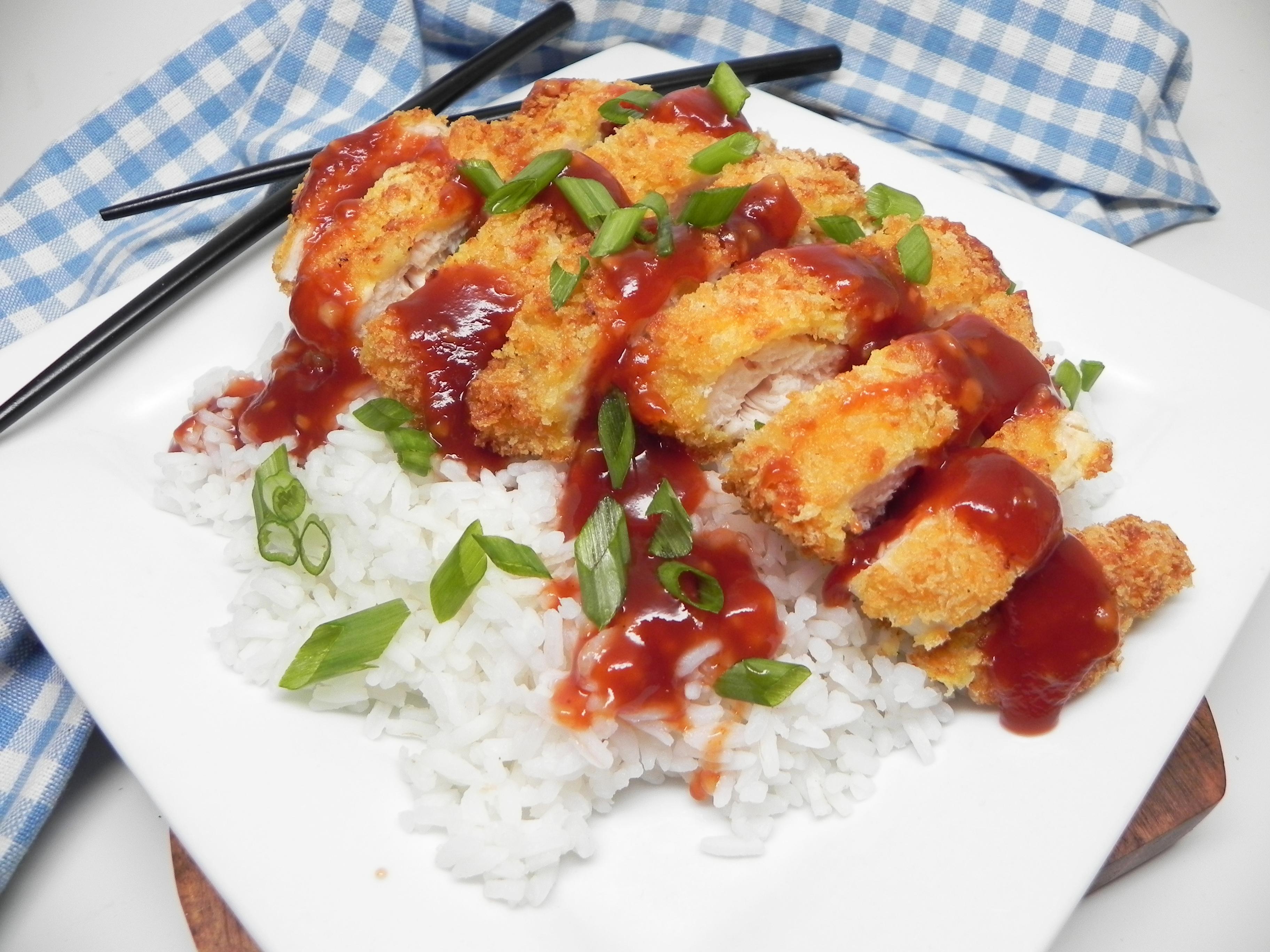 Air Fryer Chicken Katsu with Homemade Katsu Sauce