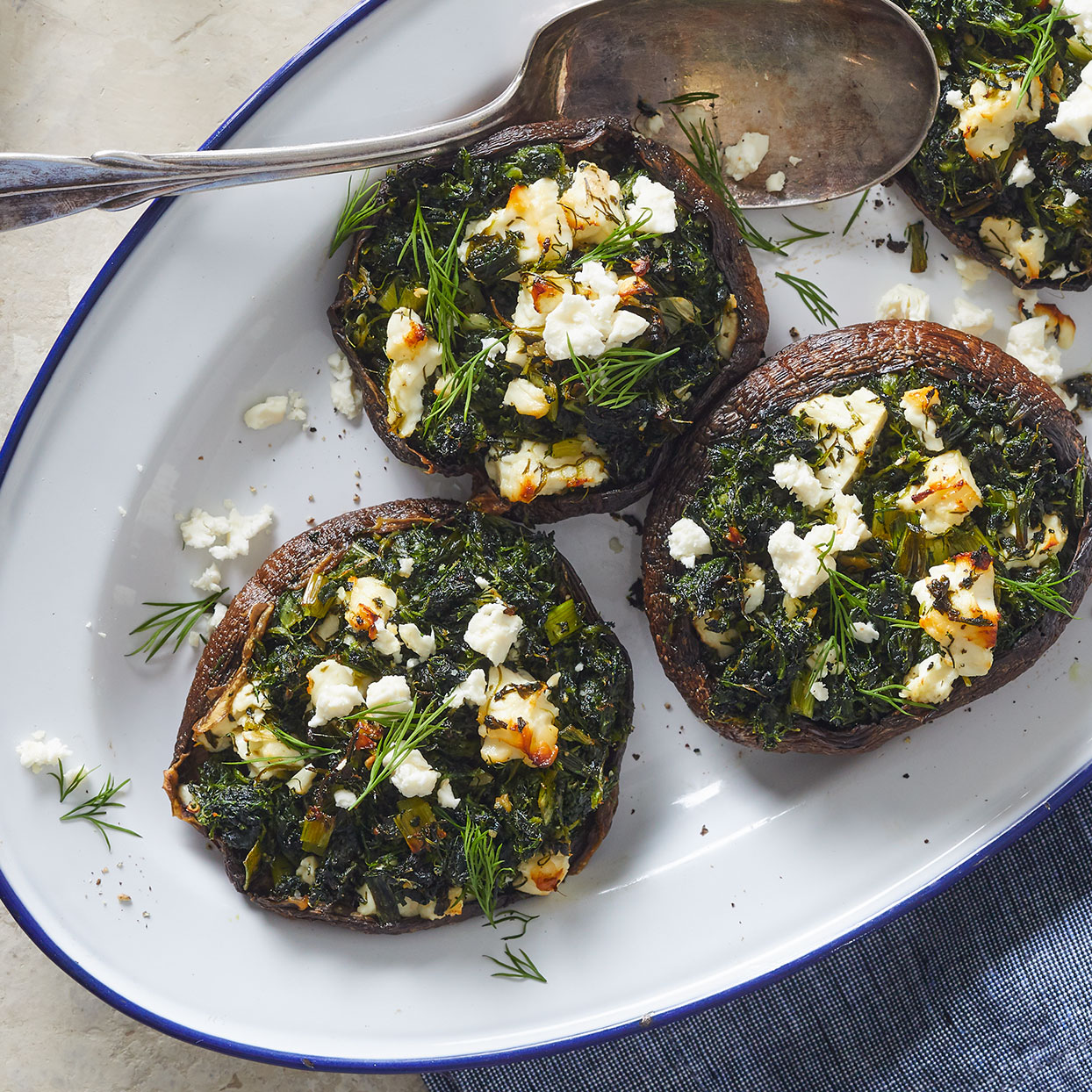 Spanakopita-Stuffed Portobello Mushrooms Carolyn Casner