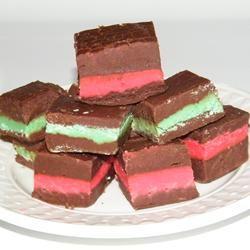 Layered Mint Chocolate Fudge spacecake80