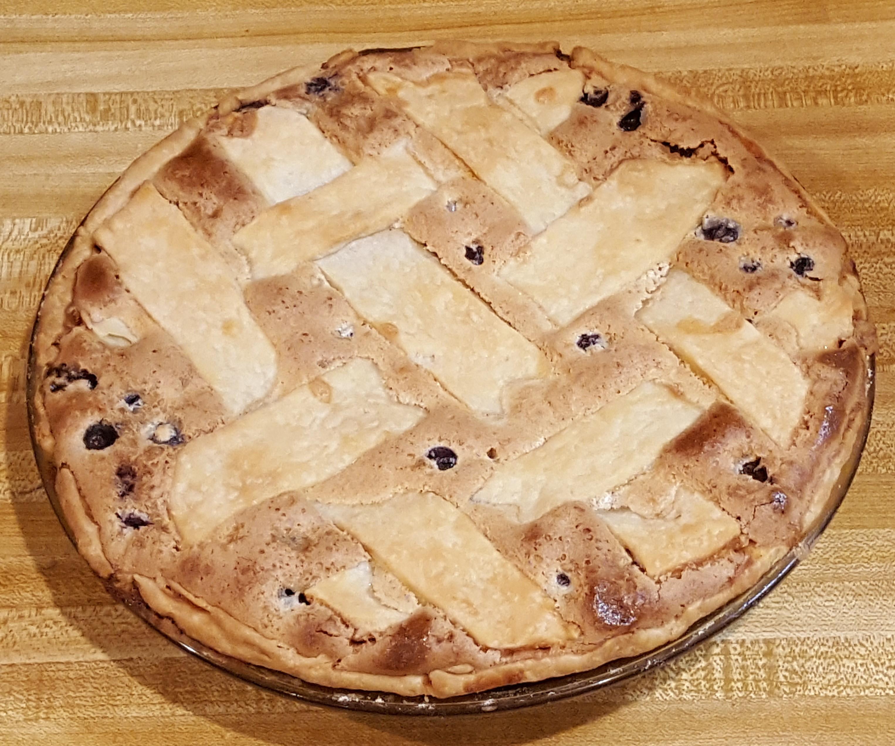 Old-Fashioned Blueberry Custard Pie golfingtx