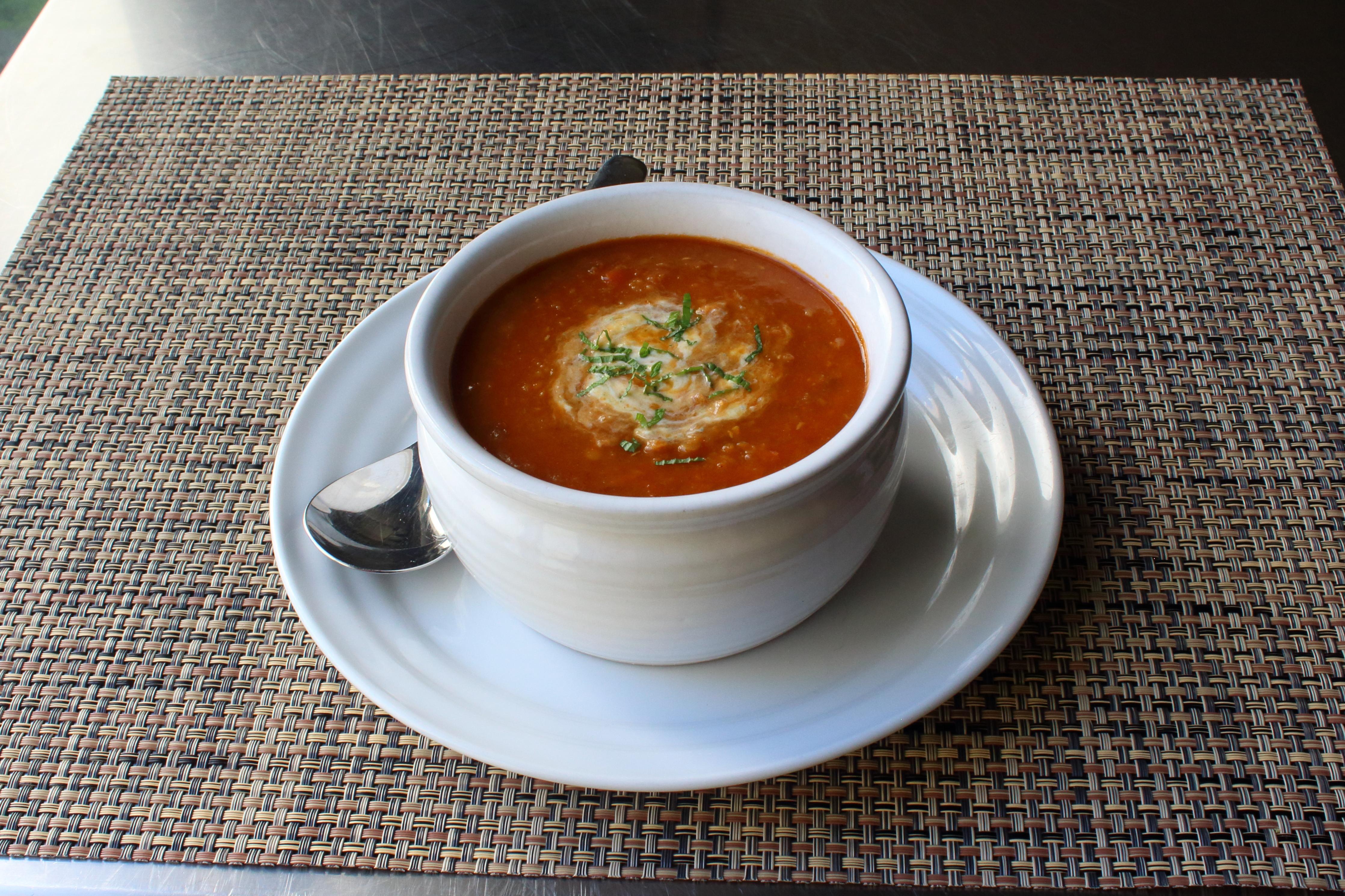 Red Lentil Soup with Lemon-Mint Yogurt