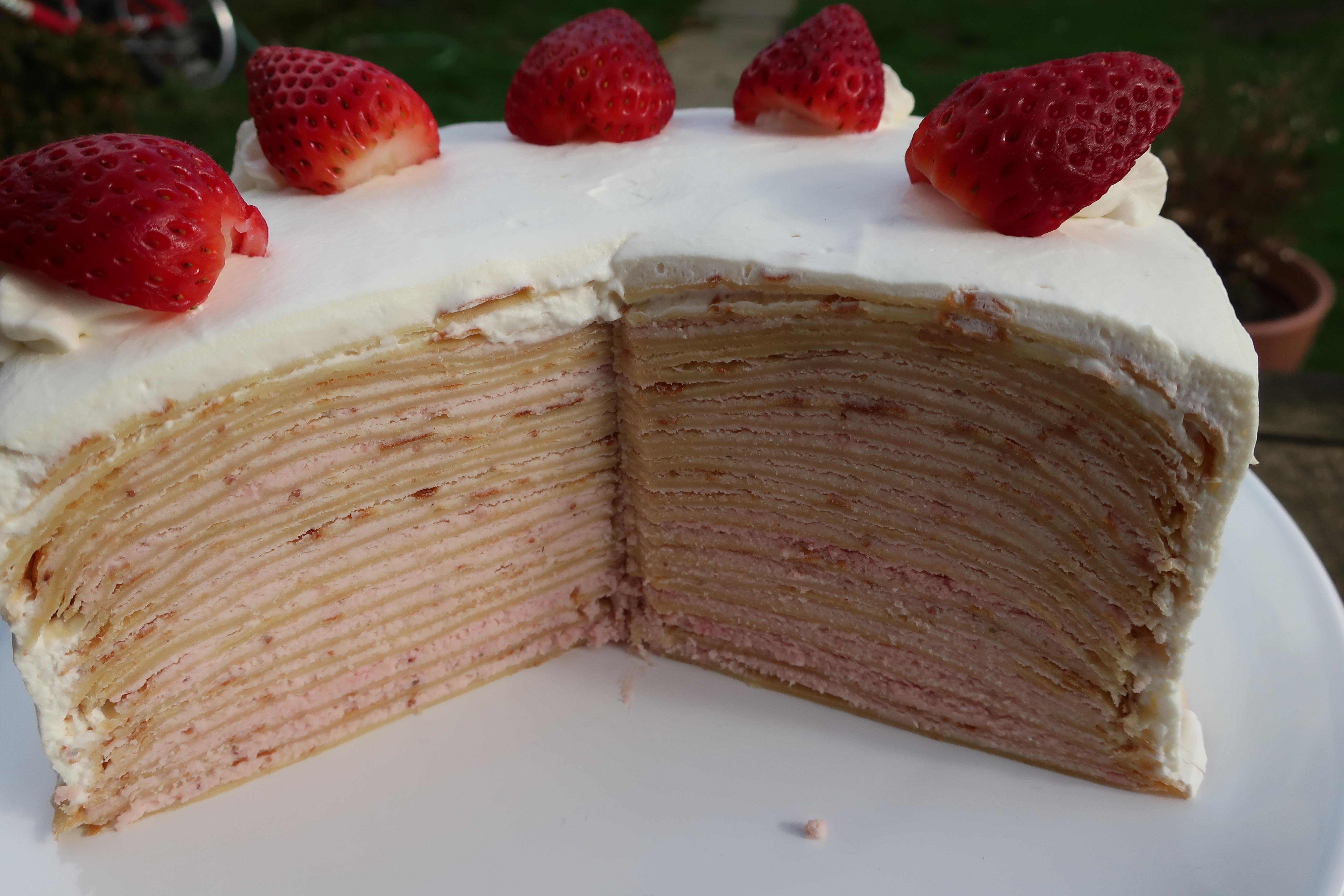 Chef John's Strawberry Crepe Cake Doughgirl8