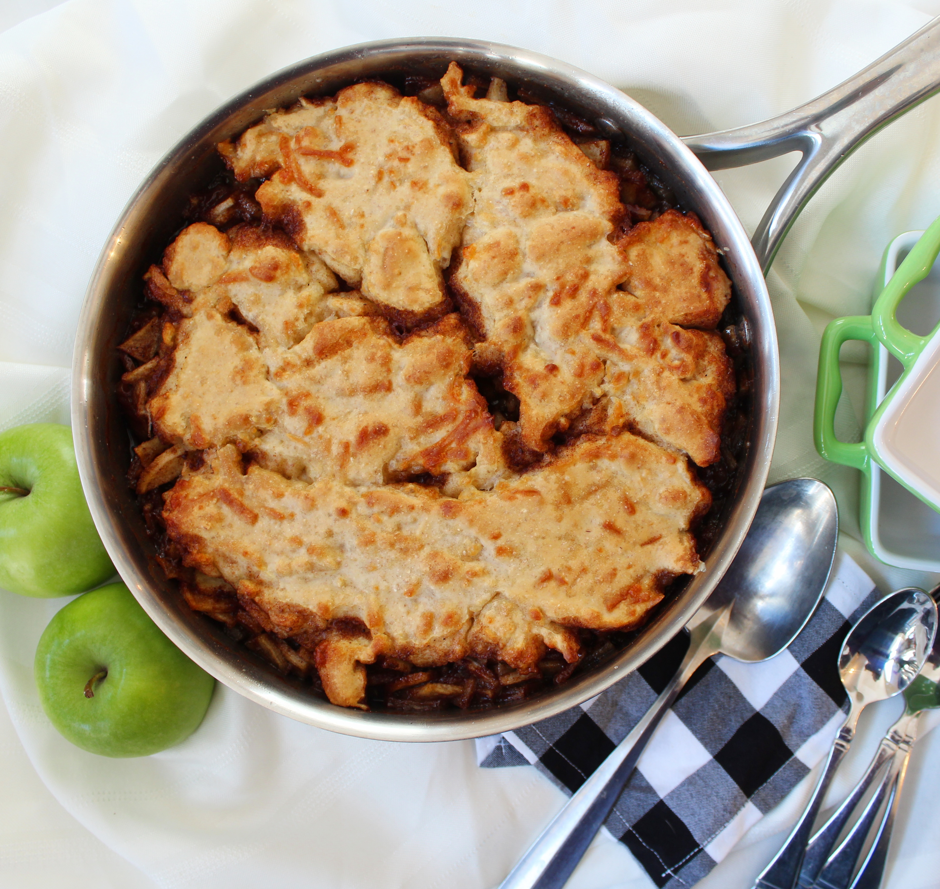 Apple and Cheddar Skillet Cake Chef Mo