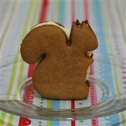 Frosted Molasses Ginger Sandwich Cookies