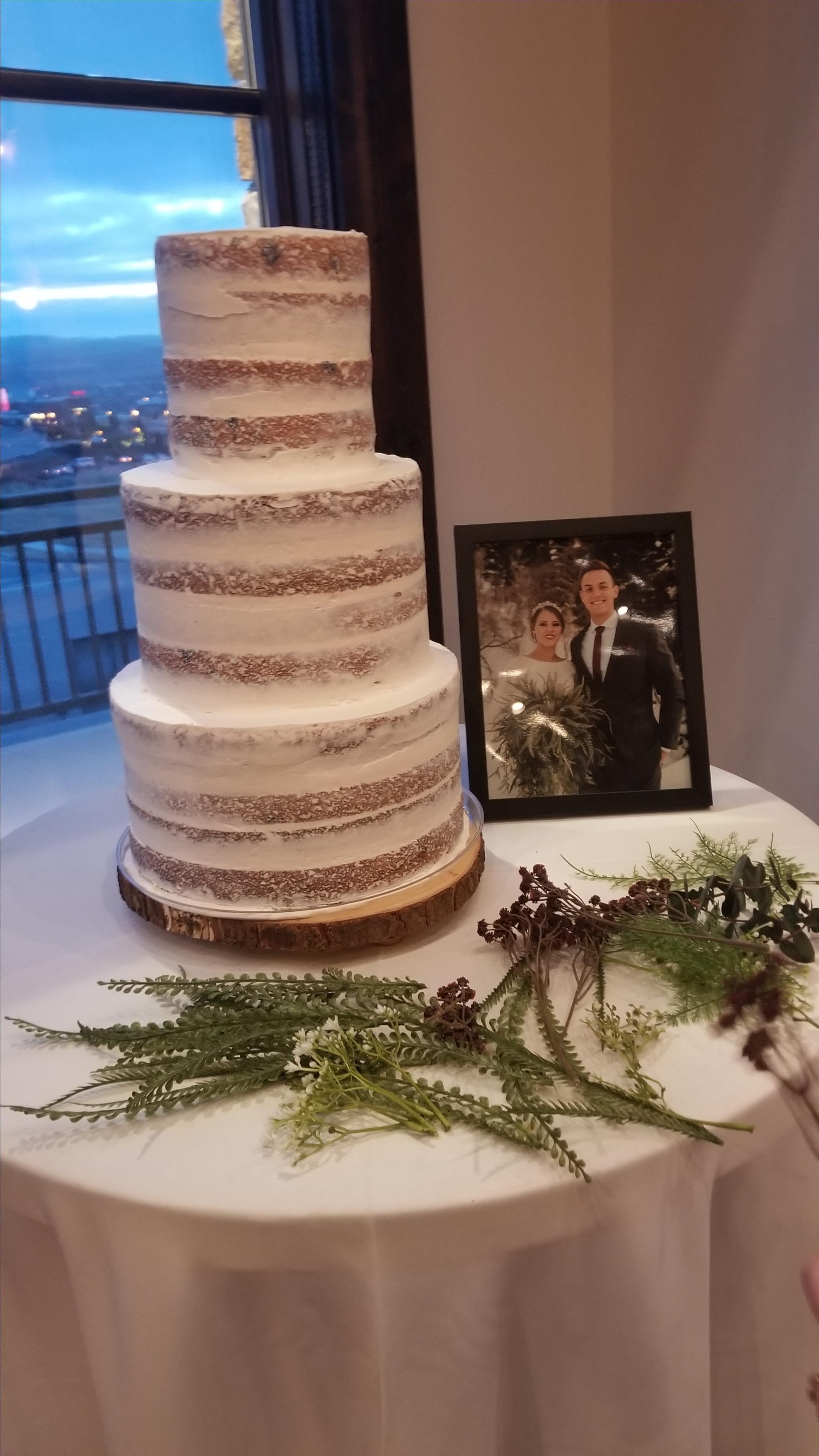 White Almond Wedding Cake Corey Zander