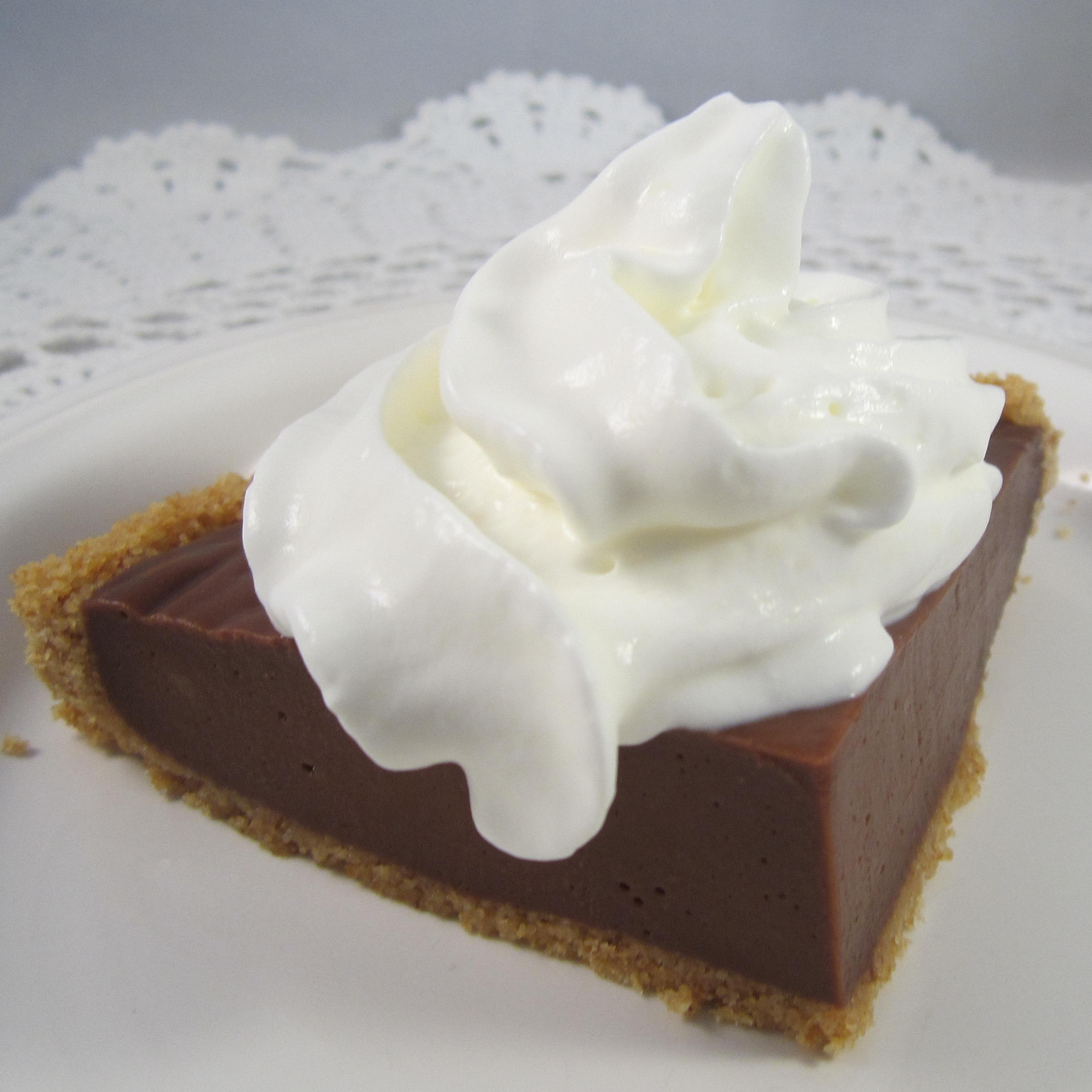 No-Bake Dark Chocolate Cream Pie Deb C