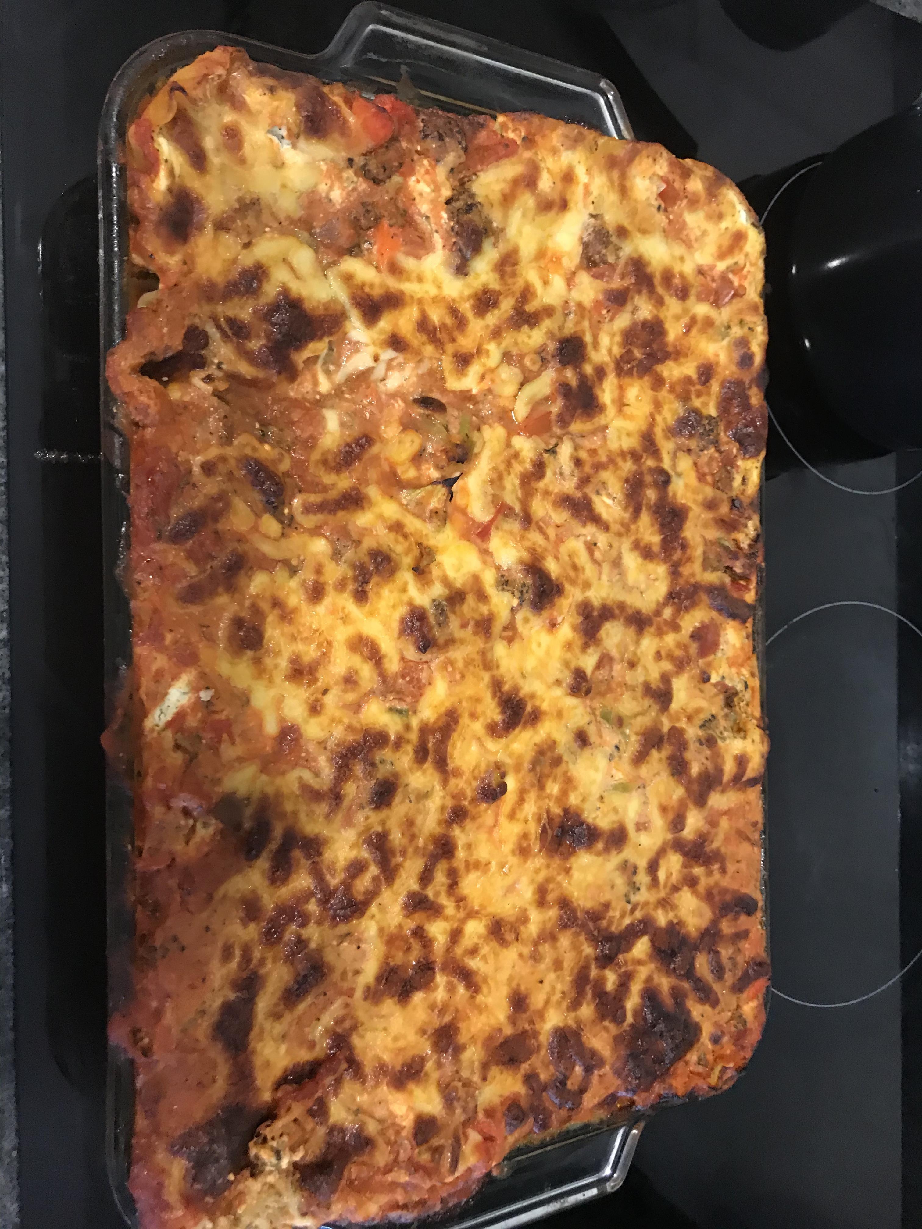 Convenient Vegetarian Lasagna