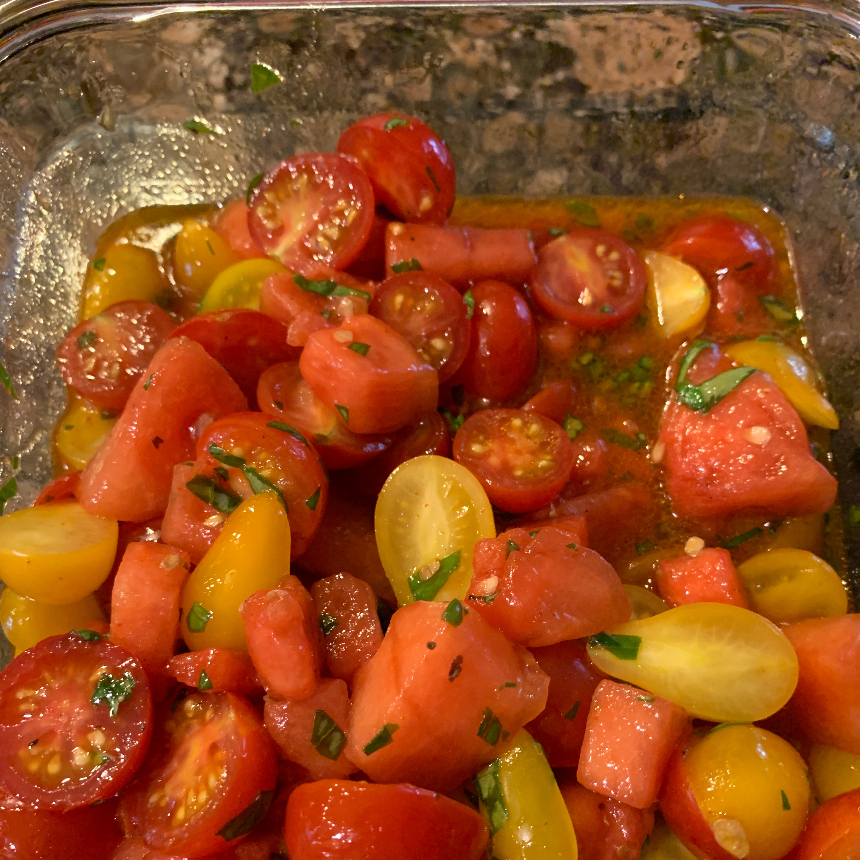 Spicy Watermelon Tomato Salad Bob Lee