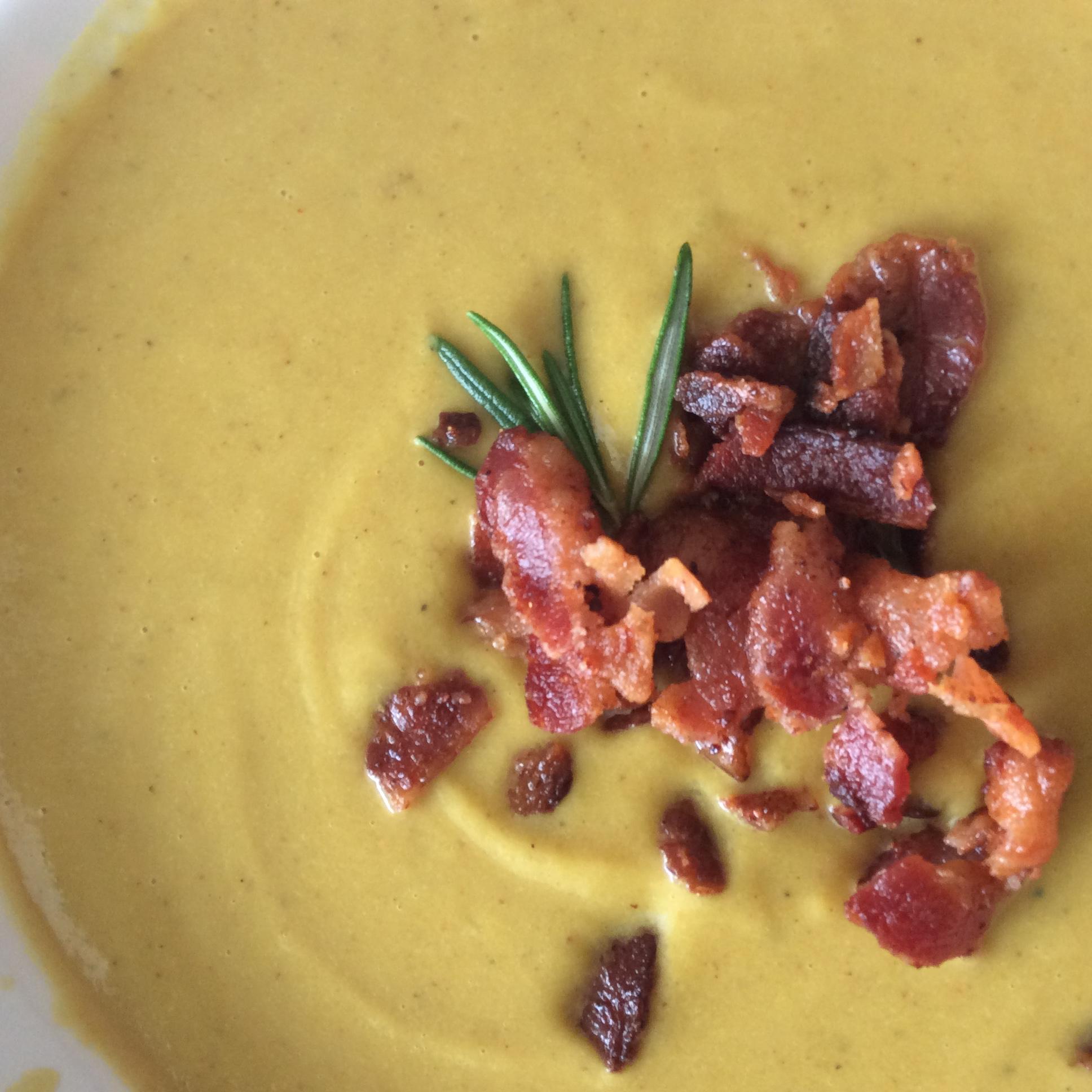Roasted Cauliflower and Pancetta Soup Donna Maria Mitchell