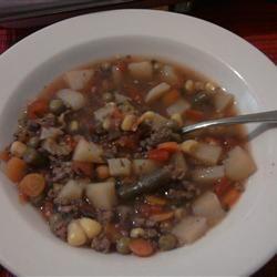 Hobo Beef and Vegetable Soup Marcia