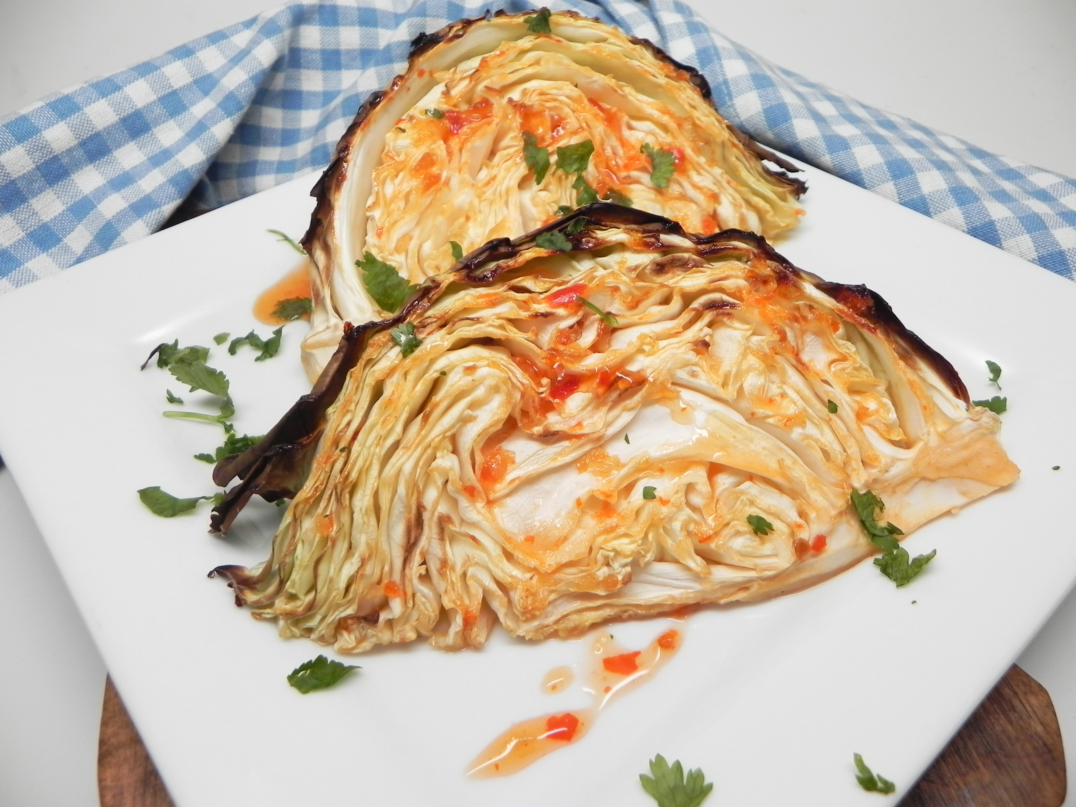 Sweet and Spicy Roasted Cabbage Wedges