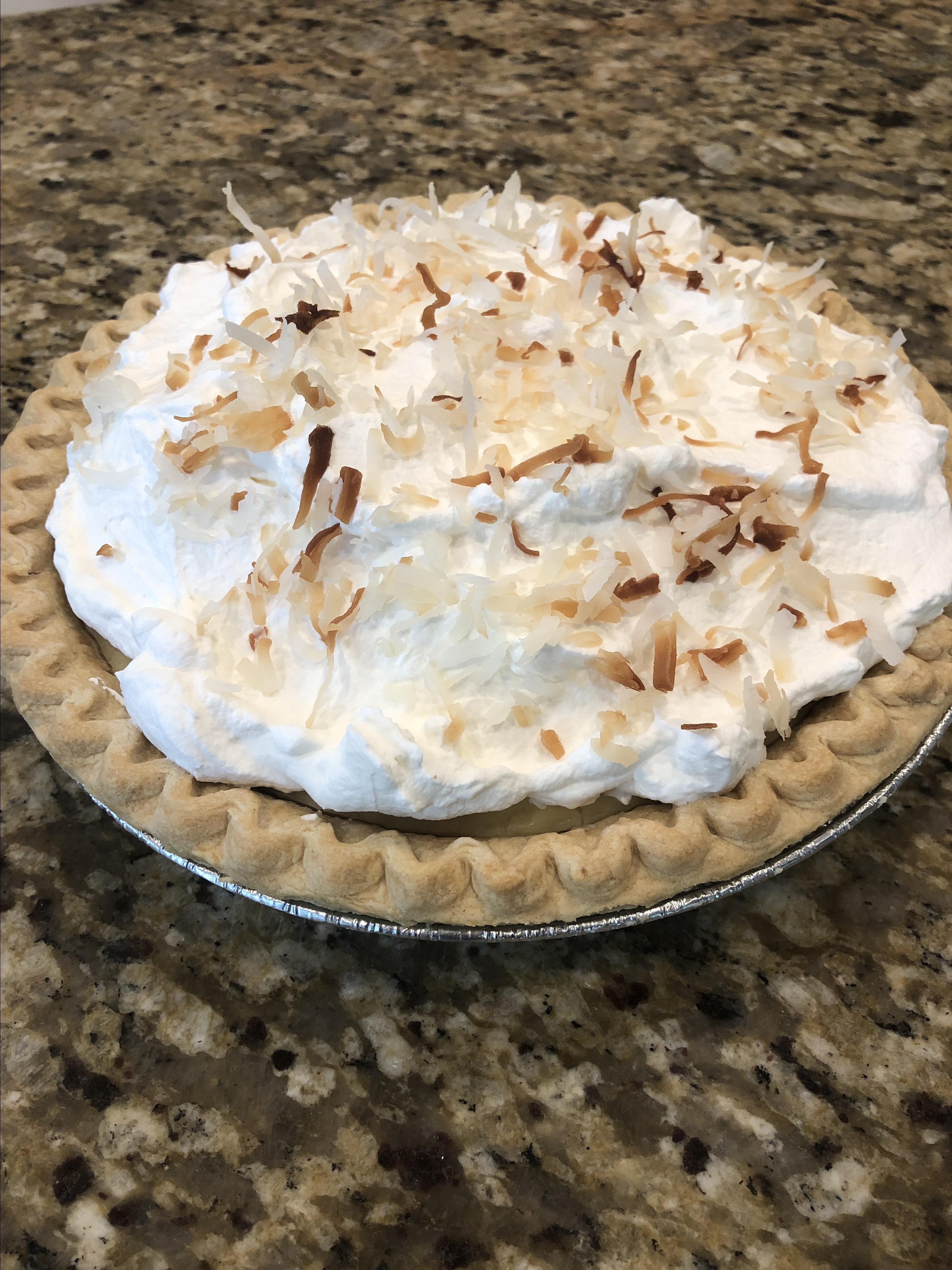 Old Fashioned Coconut Cream Pie