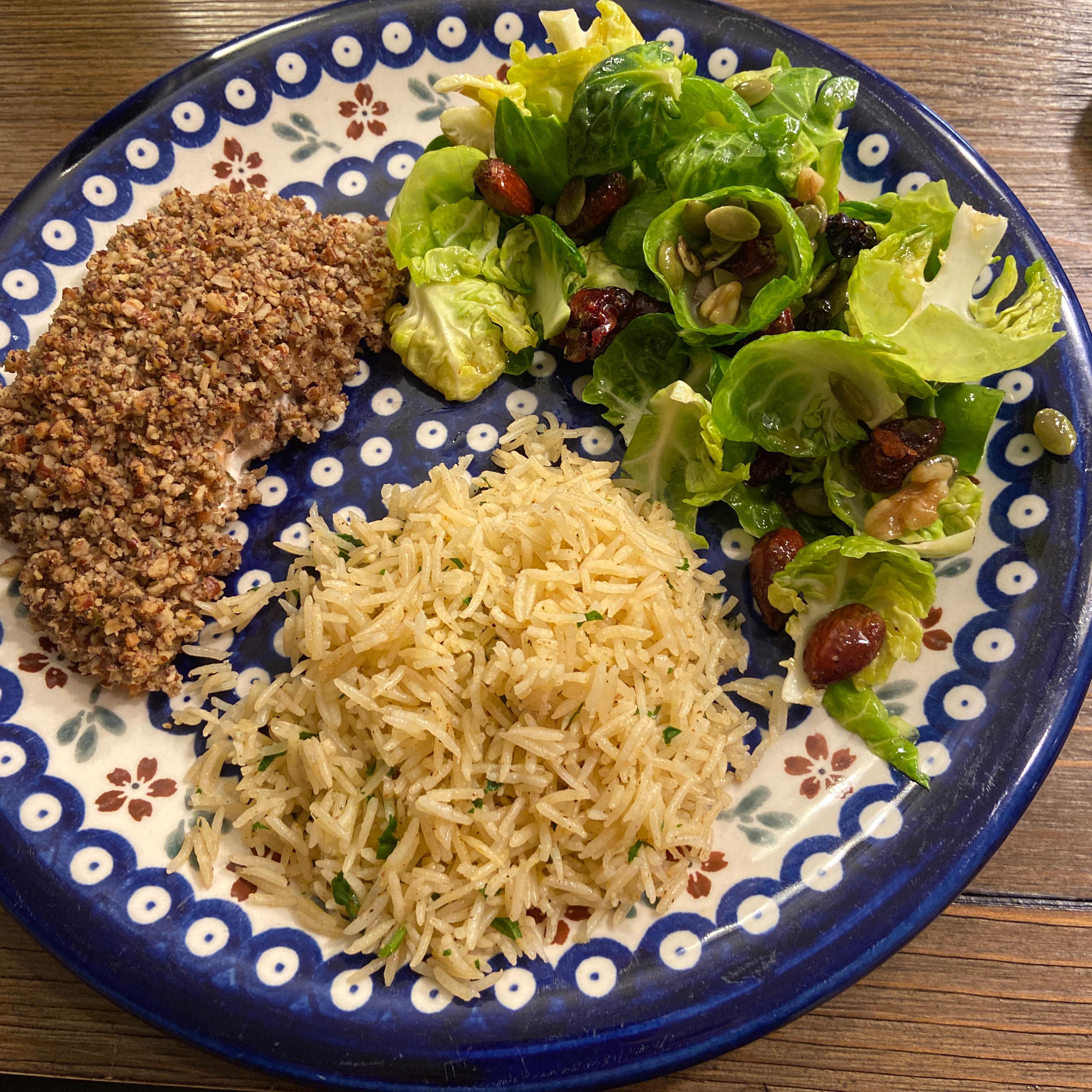 Maple-Dijon Brussels Leaf Salad
