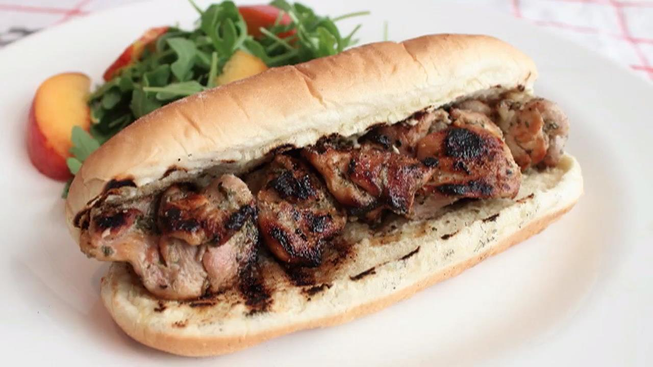 Grilled Chicken Spiedies