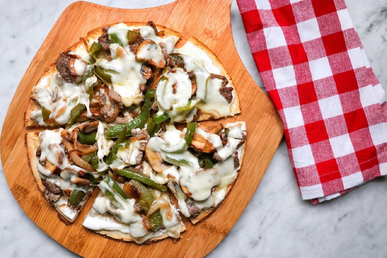 Keto Philly Cheesesteak Pizza