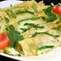Spinach Enchiladas Verde