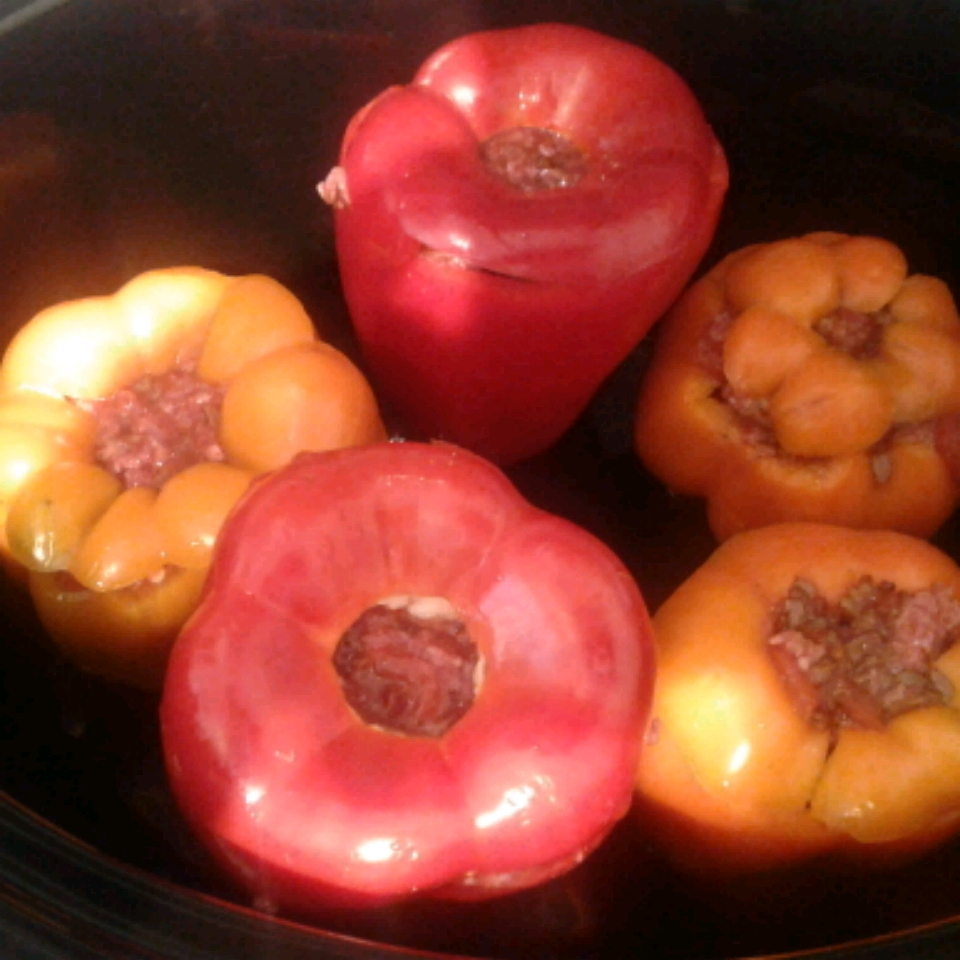 Slow Cooker Stuffed Peppers Kathy Hoven