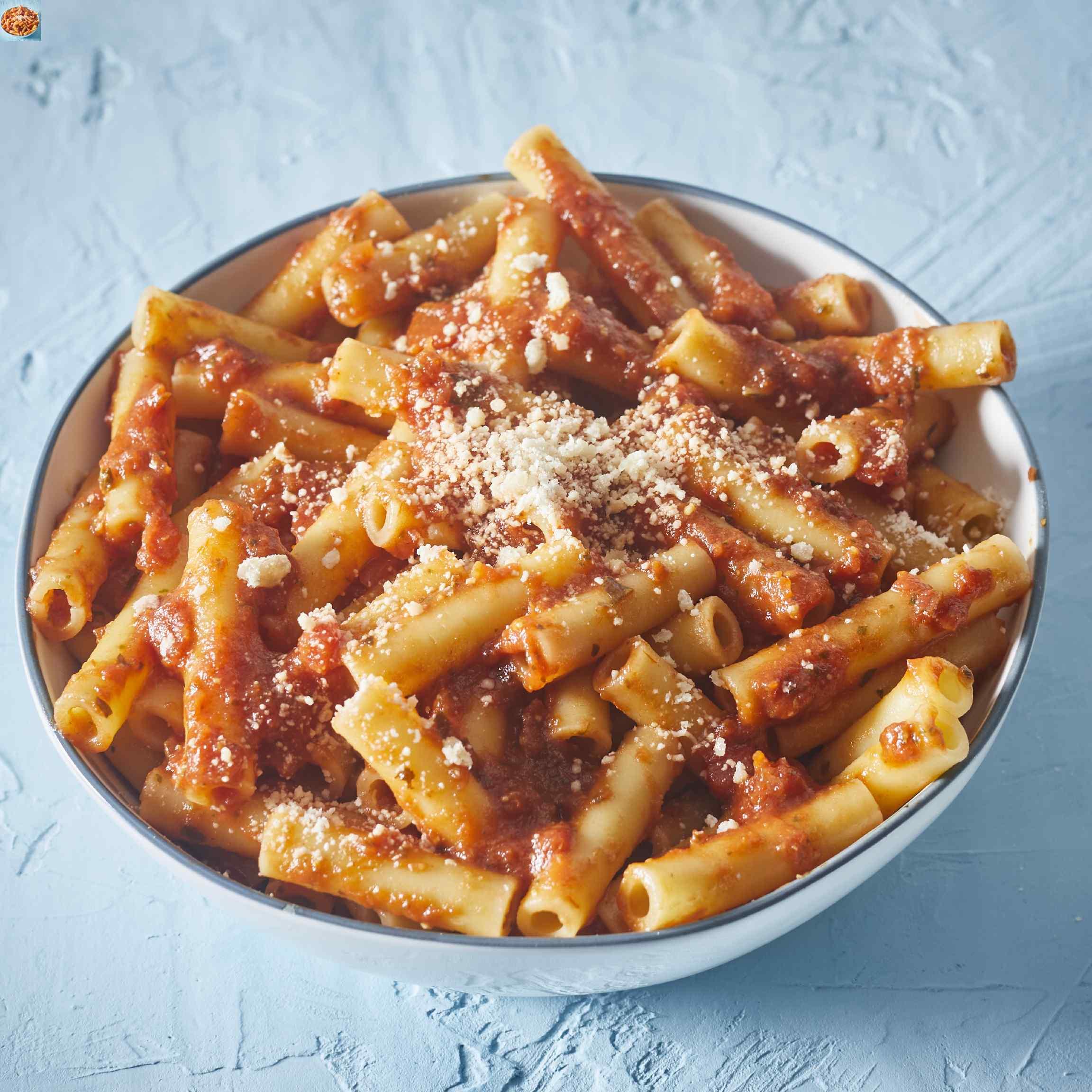 Ziti with Tomato-Pesto Sauce Risa G
